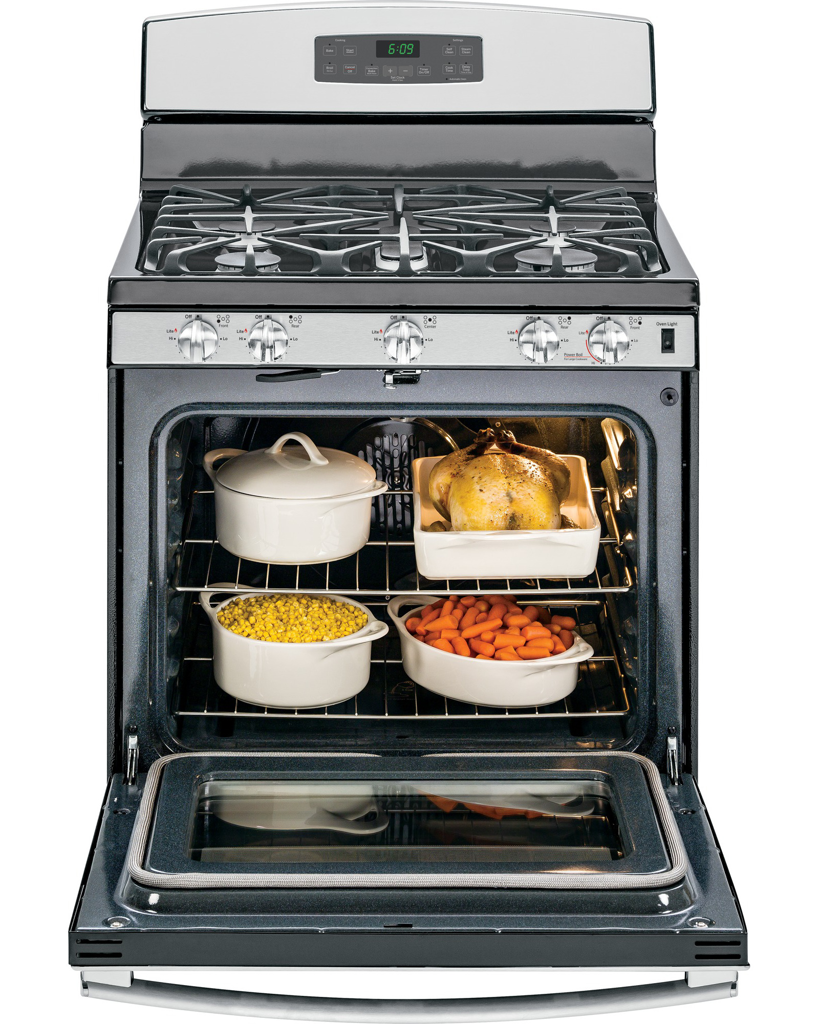 GE Appliances 5.0 cu. ft. Free-Standing Gas Convection Range - Stainless