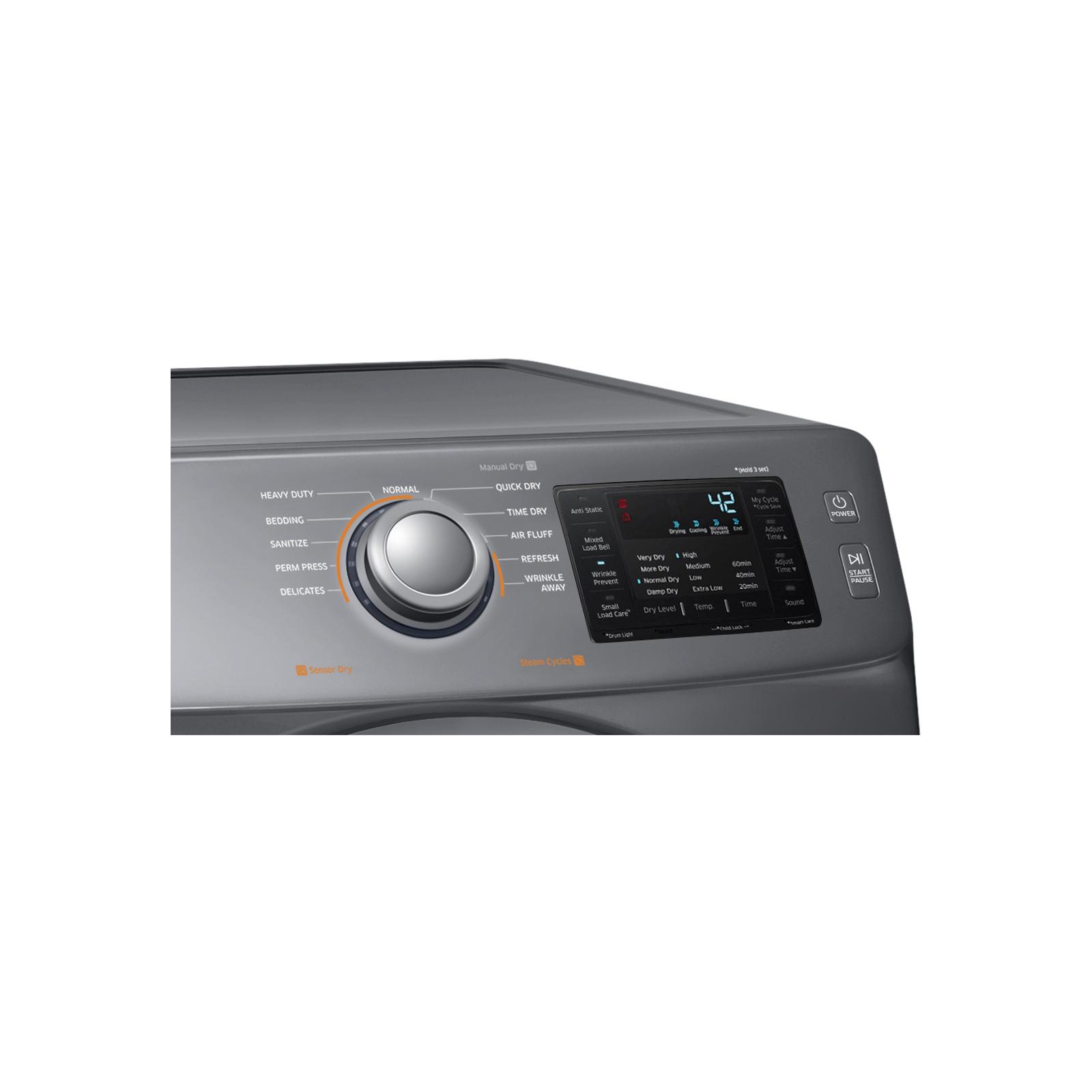 Samsung DV42H5200GP 7.5 cu. ft. Gas Dryer - Stainless Platinum