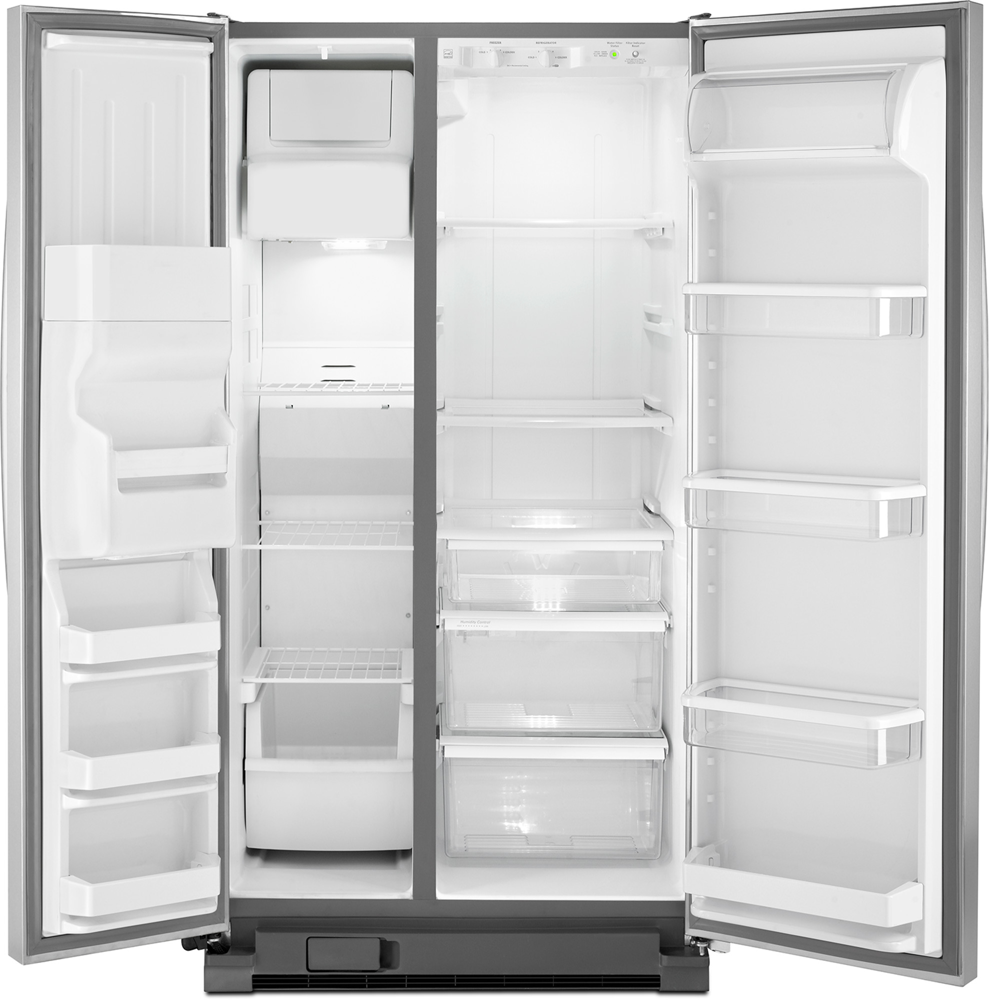 Whirlpool WRS335FDDM 25 cu. ft. Side-by-Side Refrigerator w/ Ice/Water Dispenser - Stainless Steel