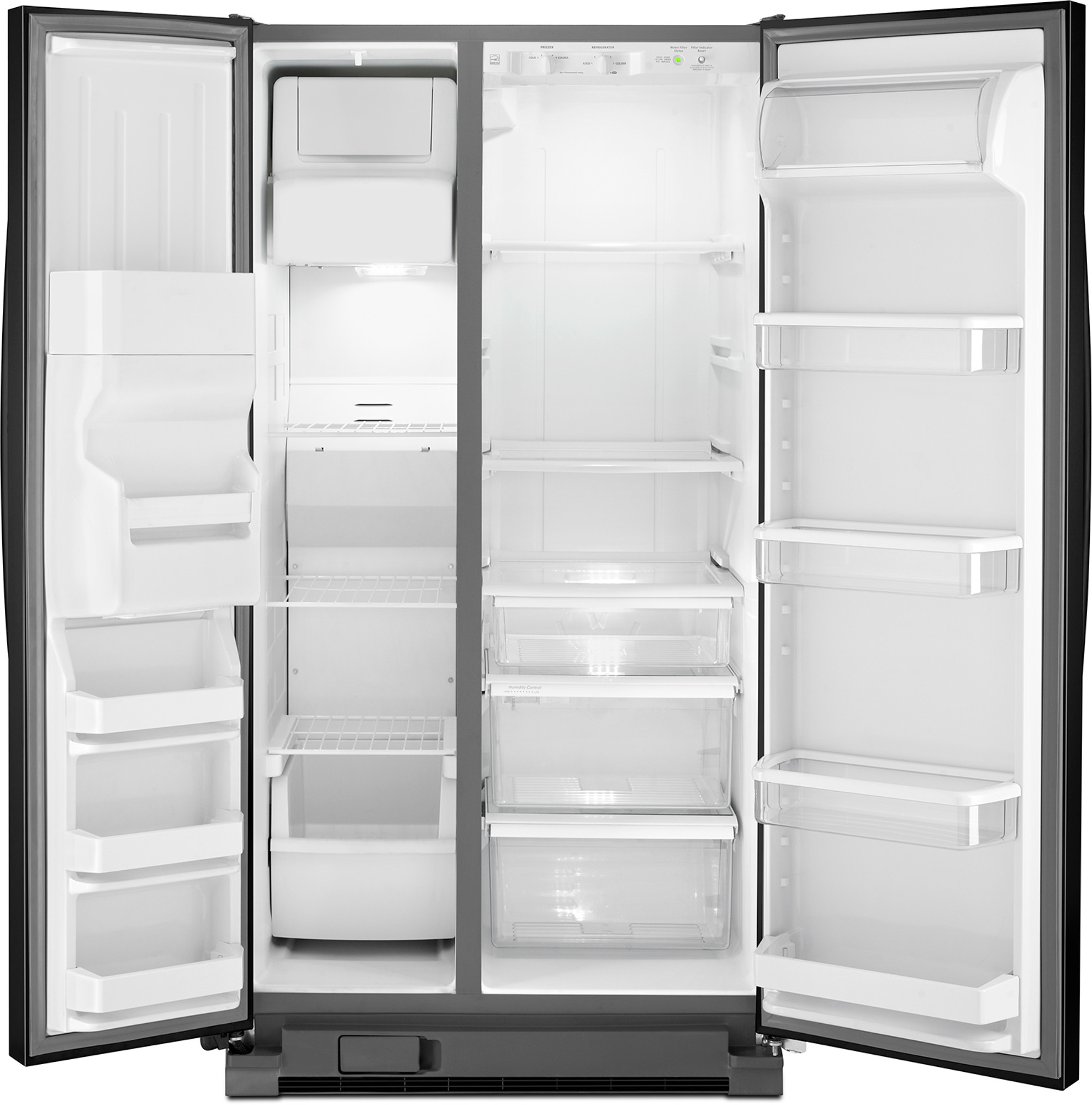 Whirlpool WRS331FDDB 21 cu. ft. Side-by-Side Refrigerator w/ Ice/Water Dispenser - Black