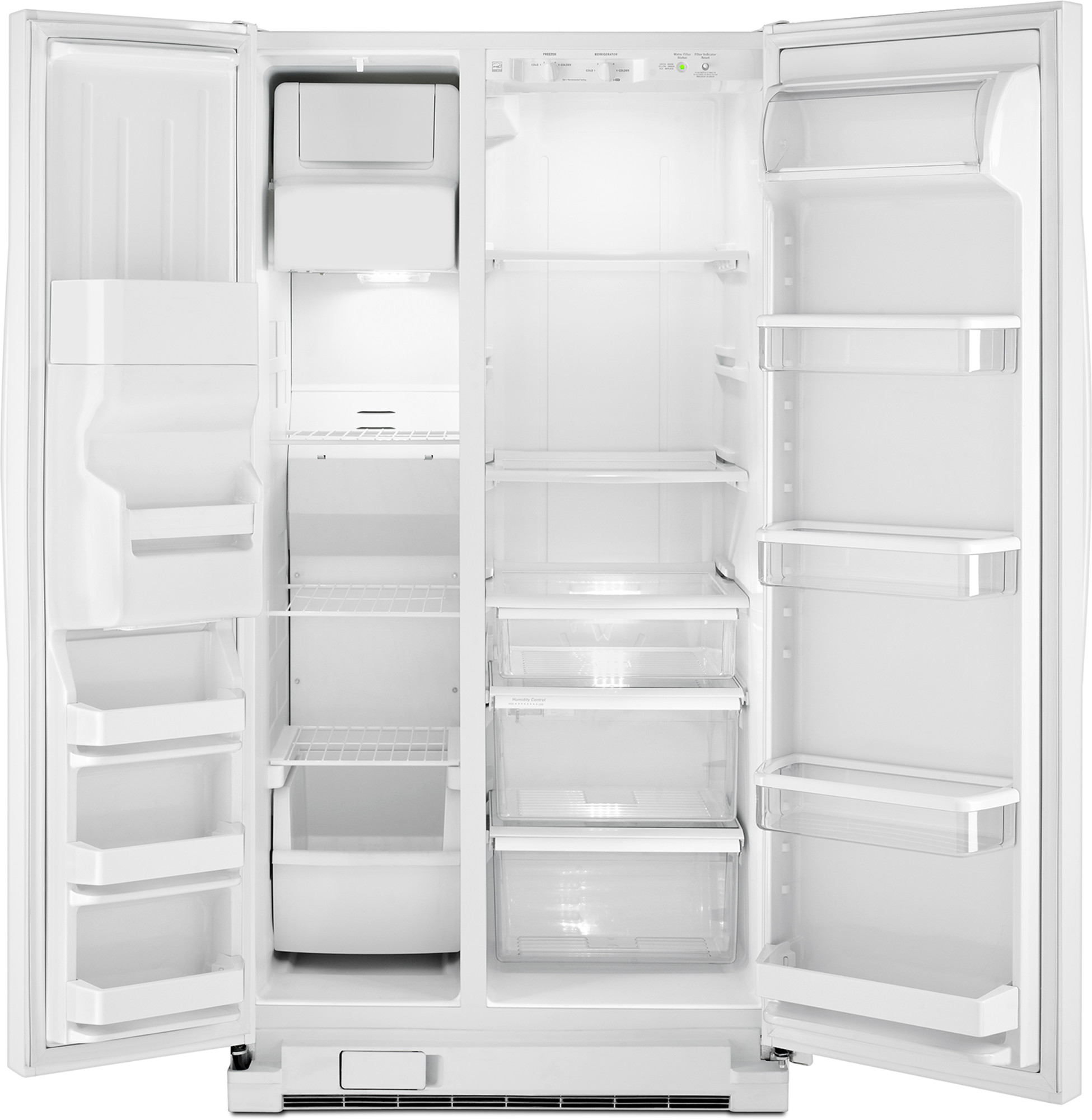 Whirlpool WRS331FDDW 21 cu. ft. Side-by-Side Refrigerator w/ Ice/Water Dispenser - White