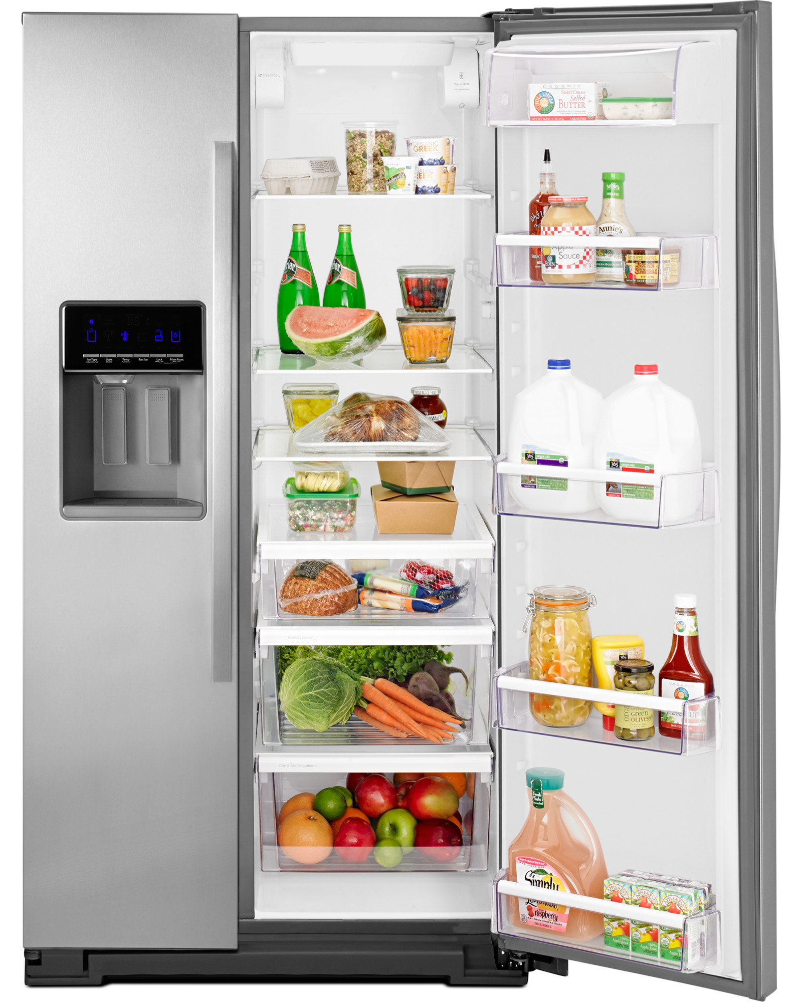 Whirlpool WRS571CIDM 21 cu. ft. Counter-Depth Side-by-Side Refrigerator - Stainless Steel