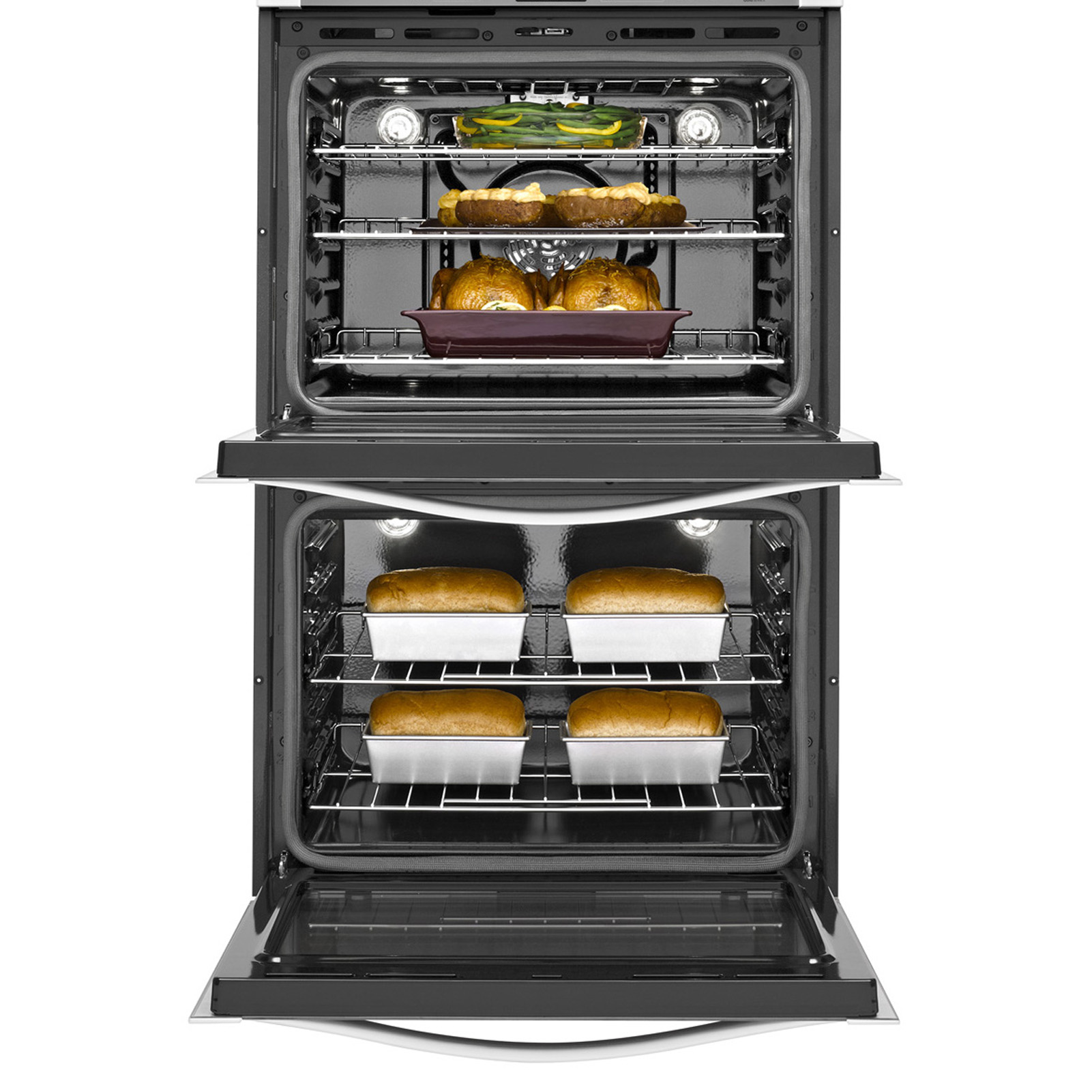 "Whirlpool Gold WOD93EC0AS WOD93EC0AS 30"" Electric Double Wall Oven w/ TimeSavor™ Ultra True Convection - Stainless Steel"
