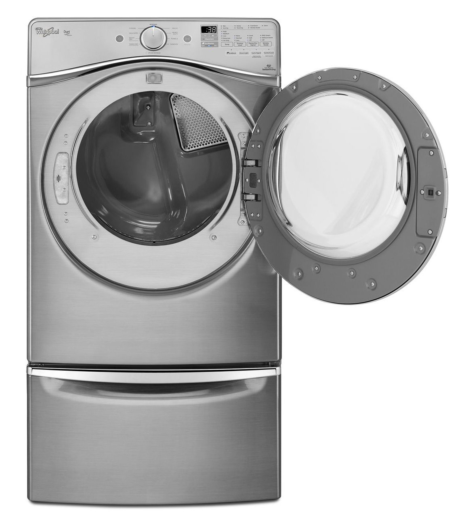 Whirlpool WED95HEDC 7.4 cu. ft. Duet® Electric Dryer - Chrome Shadow