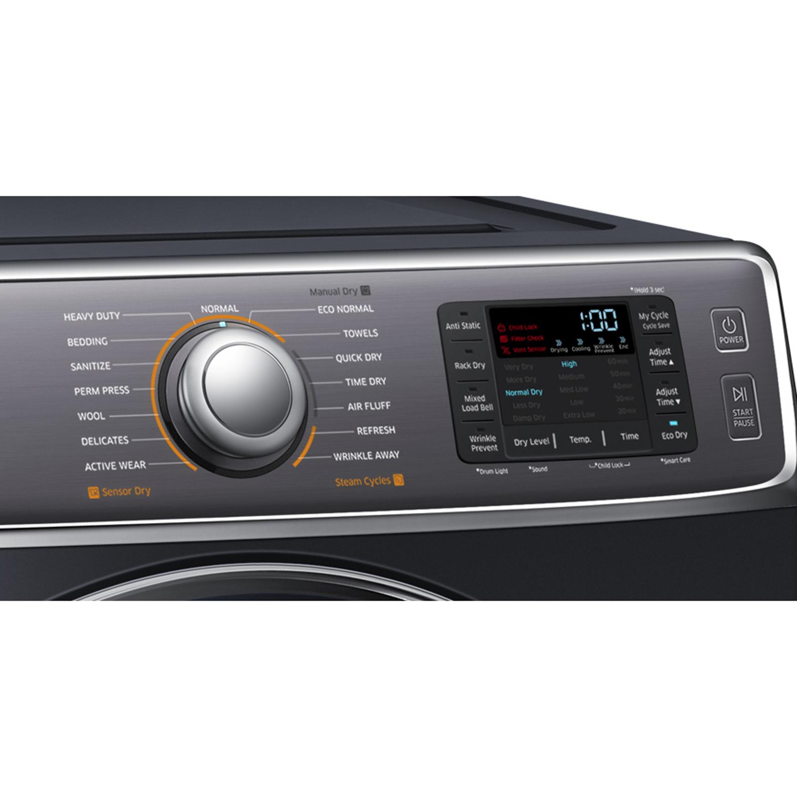 Samsung DV56H9100GG 9.5 cu. ft. Gas Dryer - Onyx