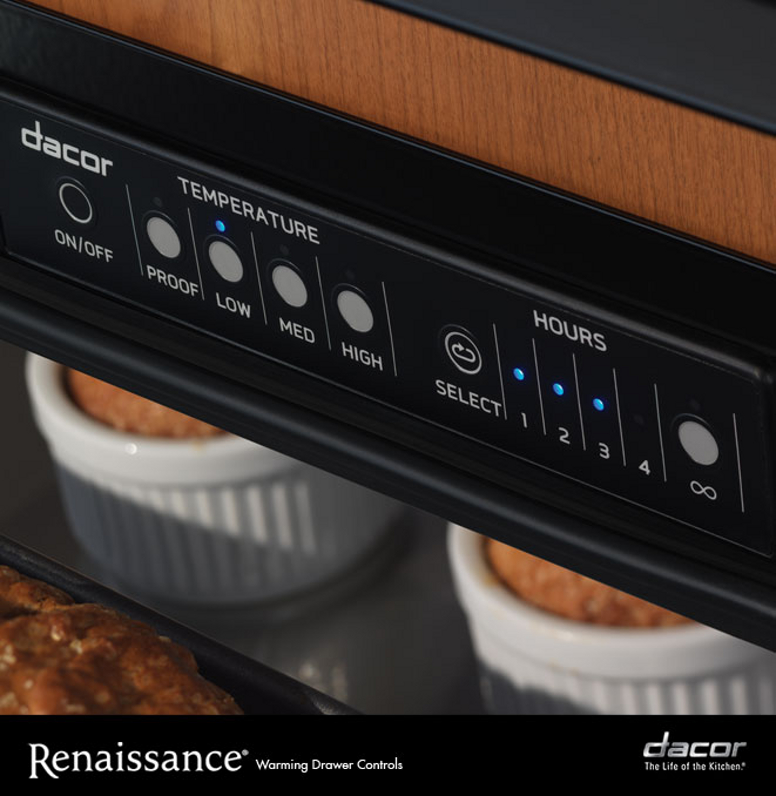 "Dacor RWDV30B 30"" Renaissance Millennia Warming Drawer - Stainless Steel"
