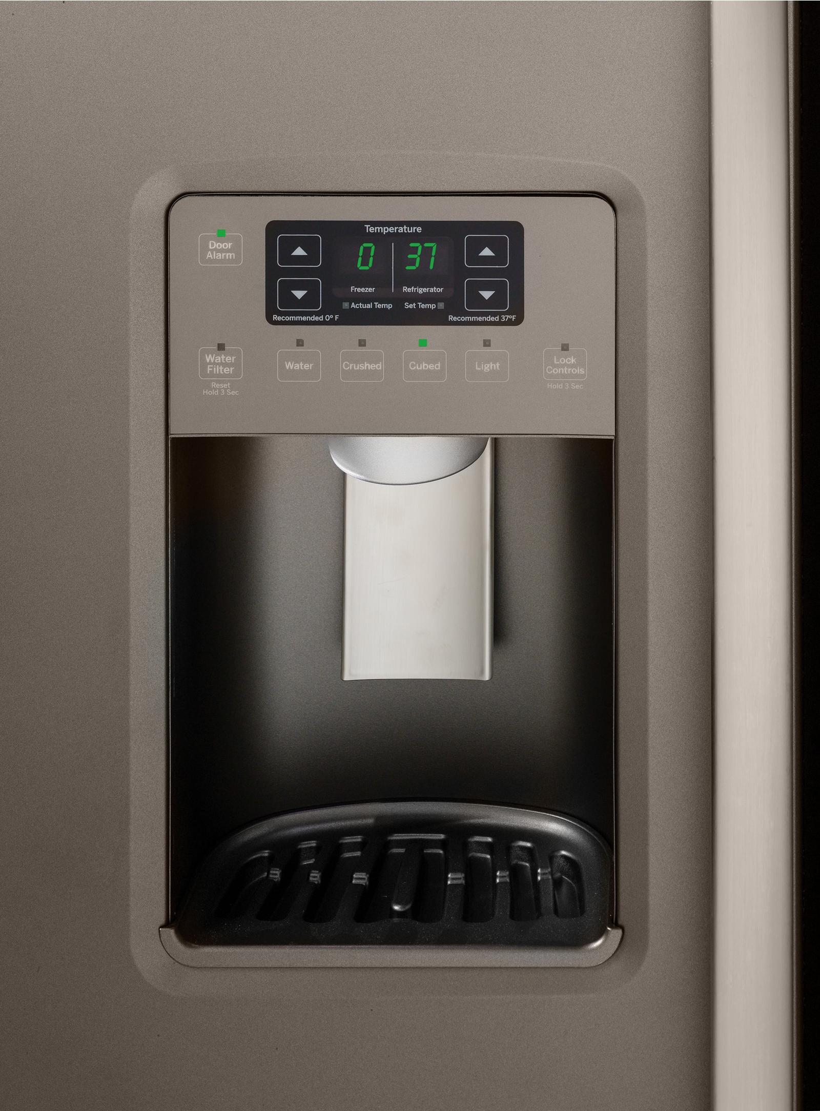 GE Appliances GSS23HMHES 22.5 cu. ft. Side-By-Side Refrigerator - Slate