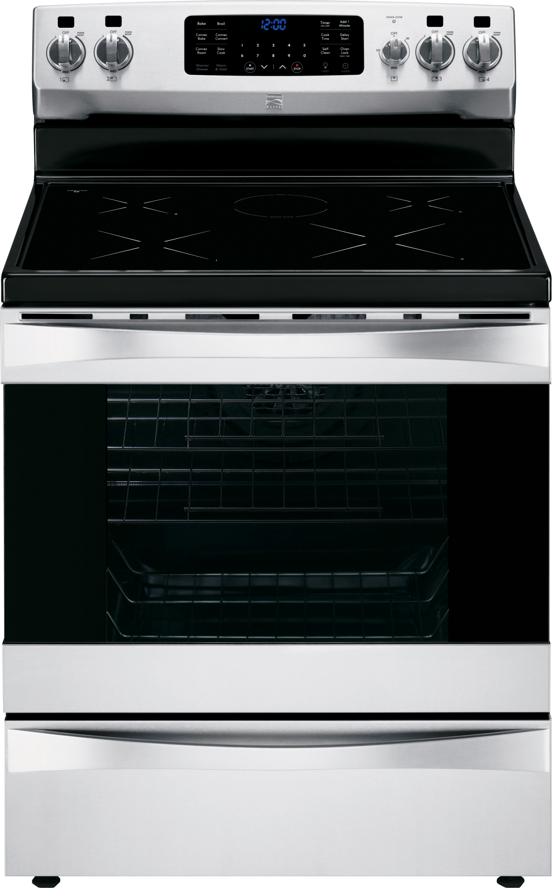 Kenmore Elite 6.1 cu. ft. Freestanding Induction Range w/ True Convection - Stainless Steel