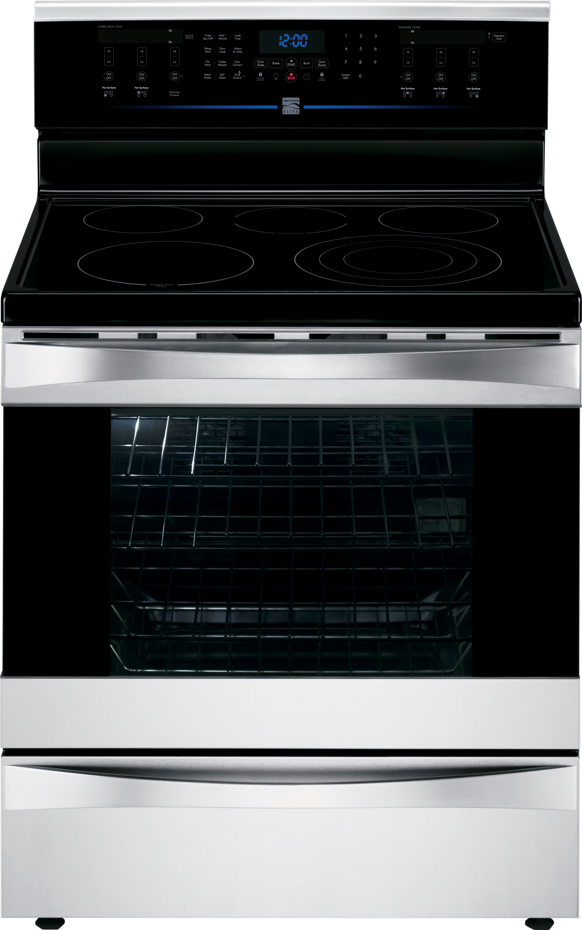 Kenmore Elite 6.1 cu. ft. Electric Range w/ Dual True Convection - Stainless Steel