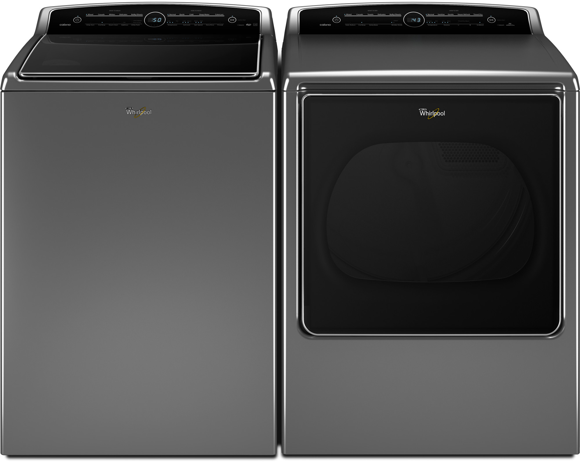 Whirlpool WED8500DC 8.8 cu. ft. Cabrio® Electric Dryer - Chrome Shadow