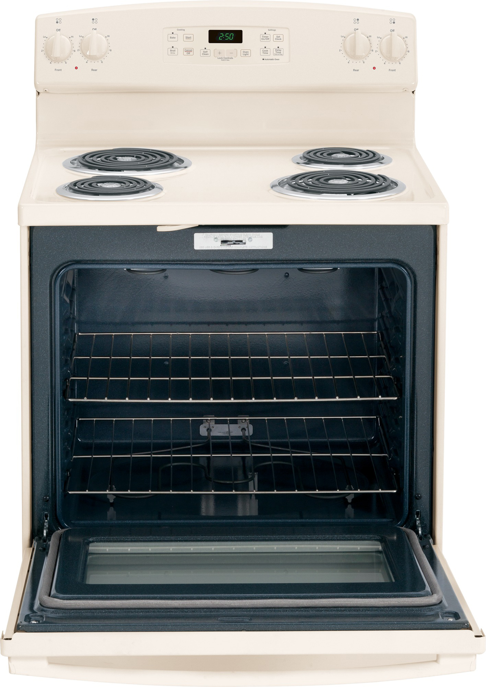GE Appliances JB250DFCC 5.3 cu. ft. Free-Standing Electric Range - Bisque