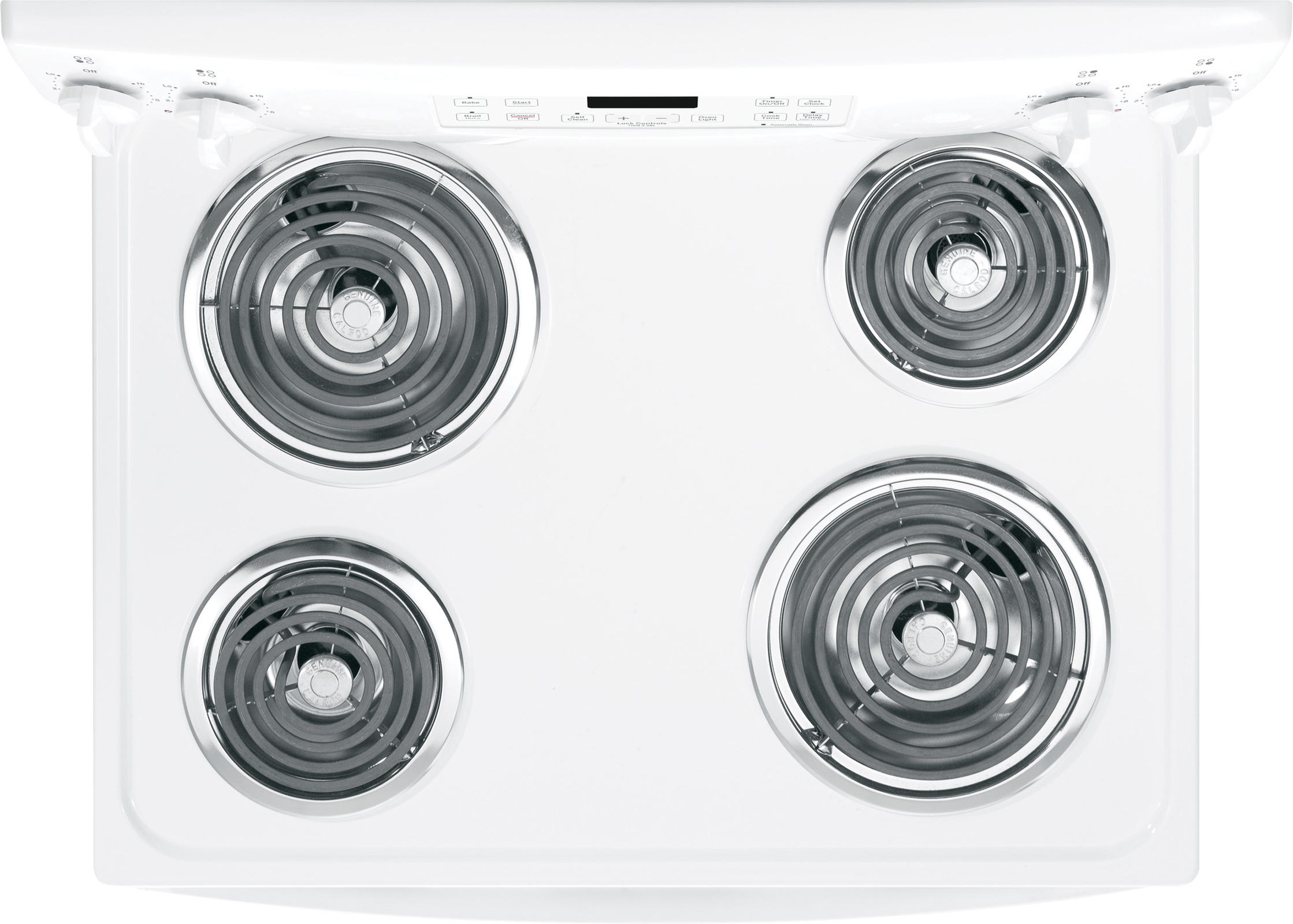 GE 5.3 cu. ft. Free-Standing Electric Convection Range - White