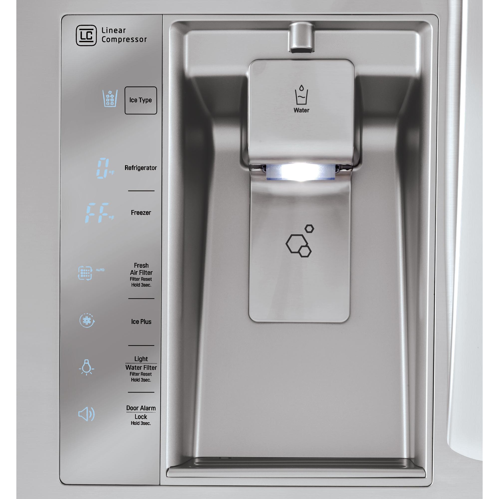 LG LMXC23746S 22.7 cu.ft. Counter-Depth 4-Door Refrigerator w/ CustomChill™ Drawer - Stainless Steel