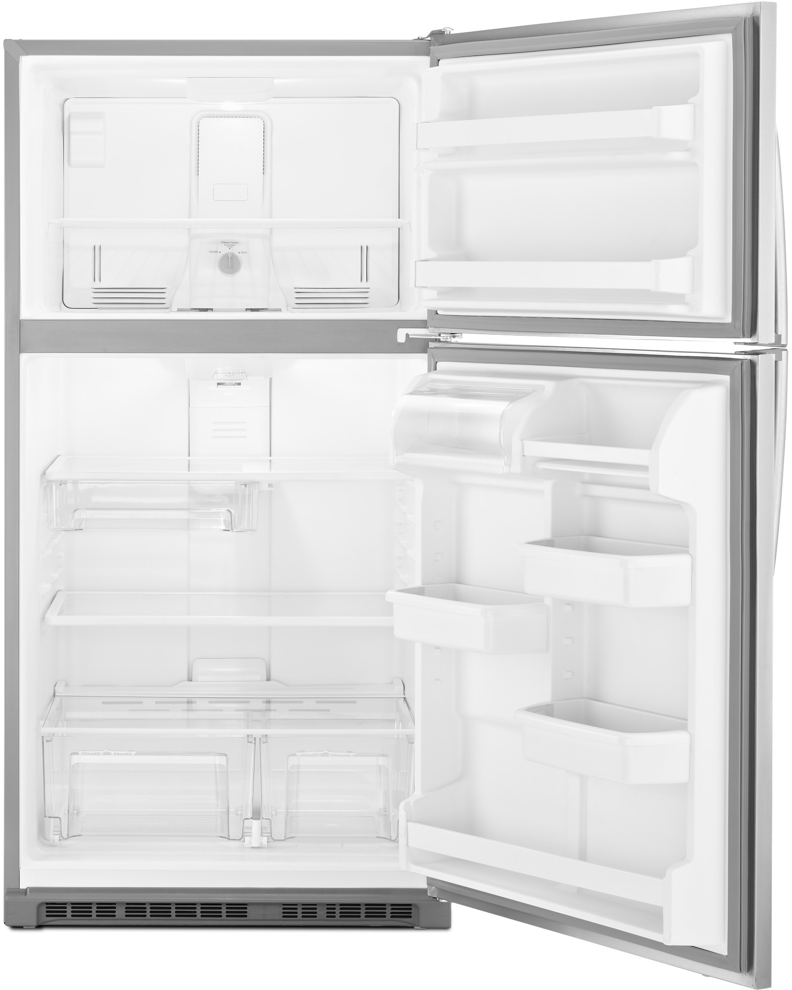 Kenmore 60213 20.5 cu. ft. Top Freezer Refrigerator w/ Humidity-Controlled Crispers - Stainless Steel