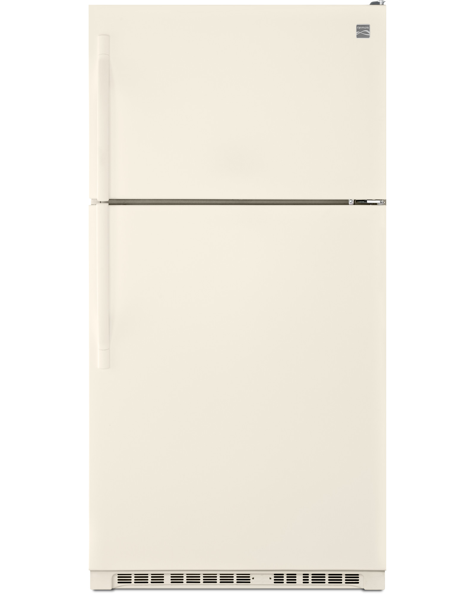 Kenmore 60214 20.5 cu. ft. Top Freezer Refrigerator w/ Humidity-Controlled Crispers - Biscuit