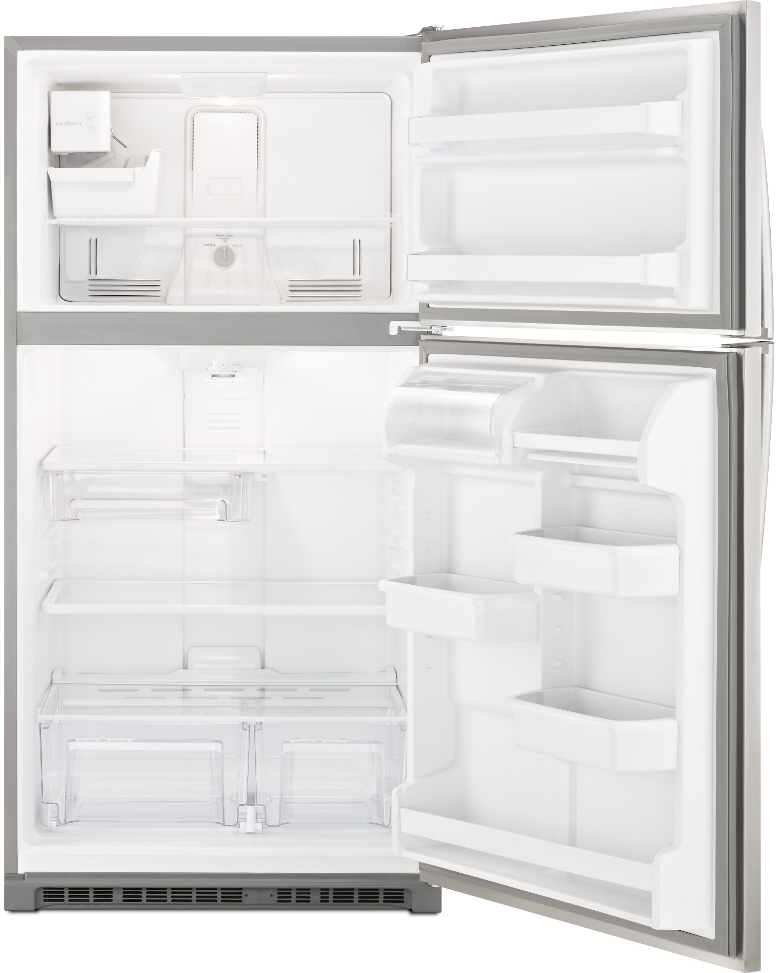 "Kenmore 20.5 cu. ft. 33"" Top Freezer Refrigerator w/ Ice Maker - Stainless Steel"