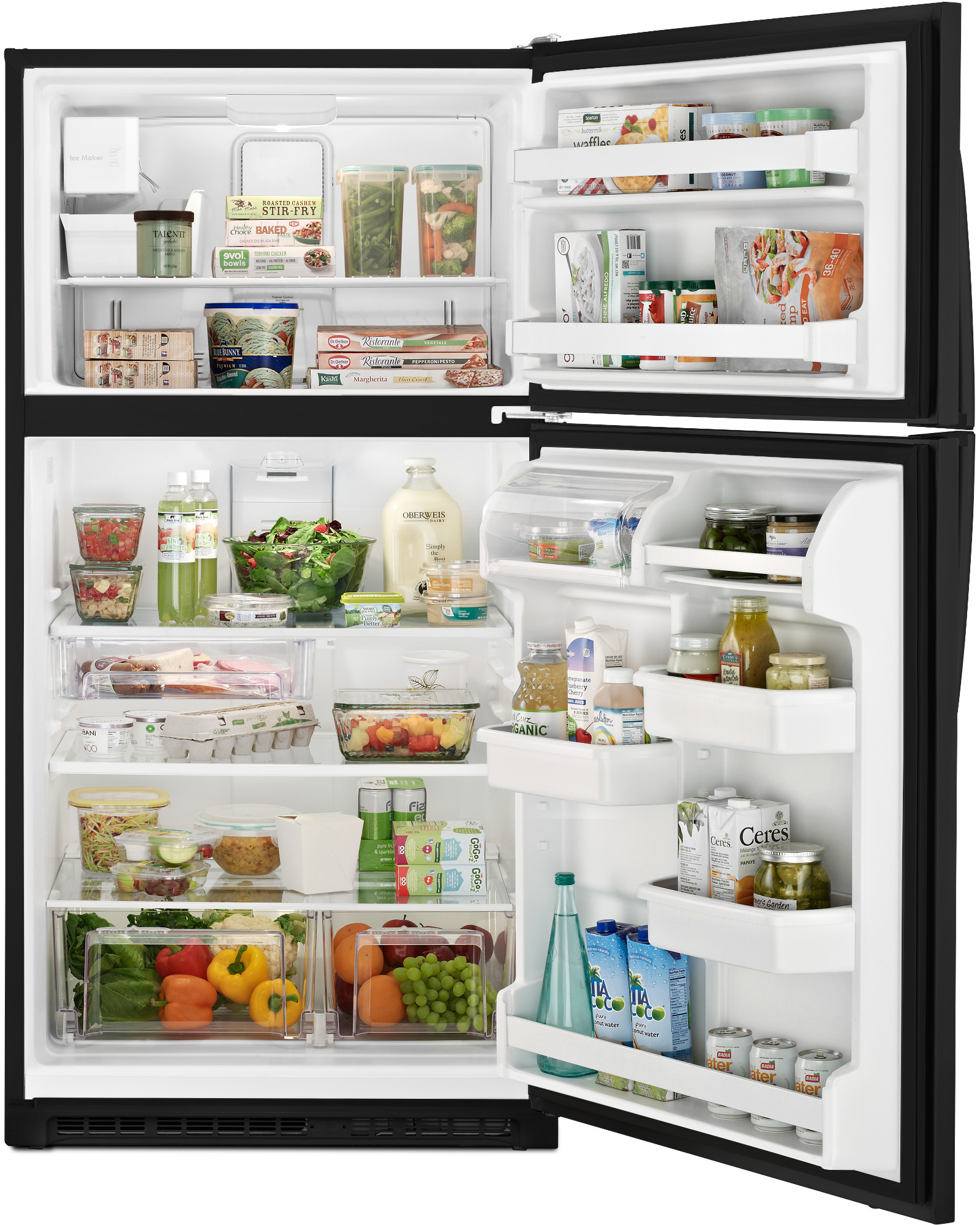 "Kenmore 70219 20.5 cu. ft. 33"" Top Freezer Refrigerator w/ Ice Maker - Black"