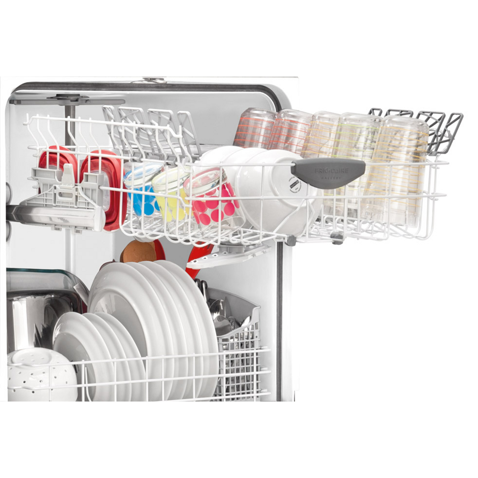 "Frigidaire Gallery FGBD2434PW Gallery 24"" Built-In Dishwasher w/ Nylon Racks - White"