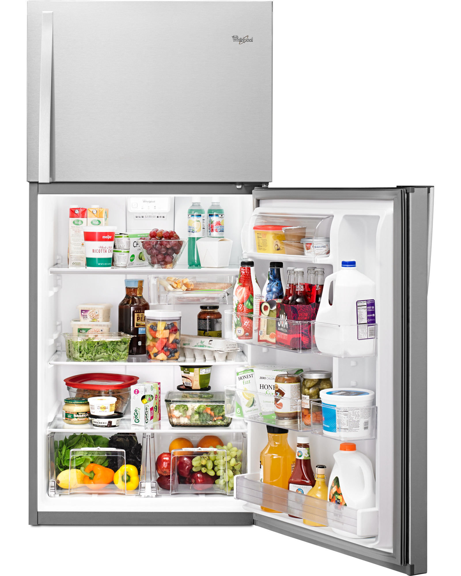 Whirlpool WRT519SZDM 19 cu. ft. Top Freezer Refrigerator w/ LED Interior Lighting - Stainless Steel