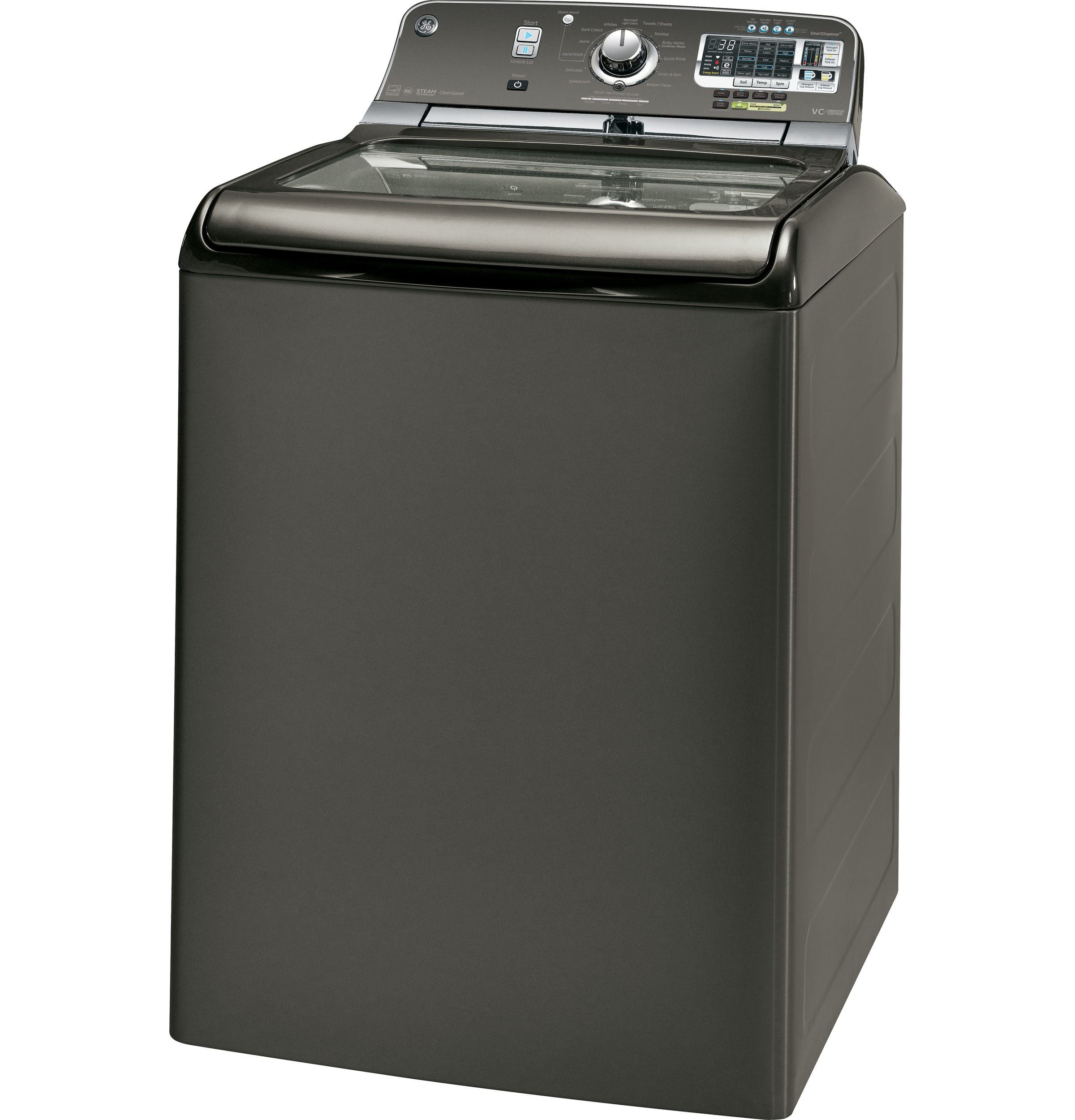 GE GTWS8655DMC 5.0 cu. ft. Top-Load Washer - Metallic Carbon