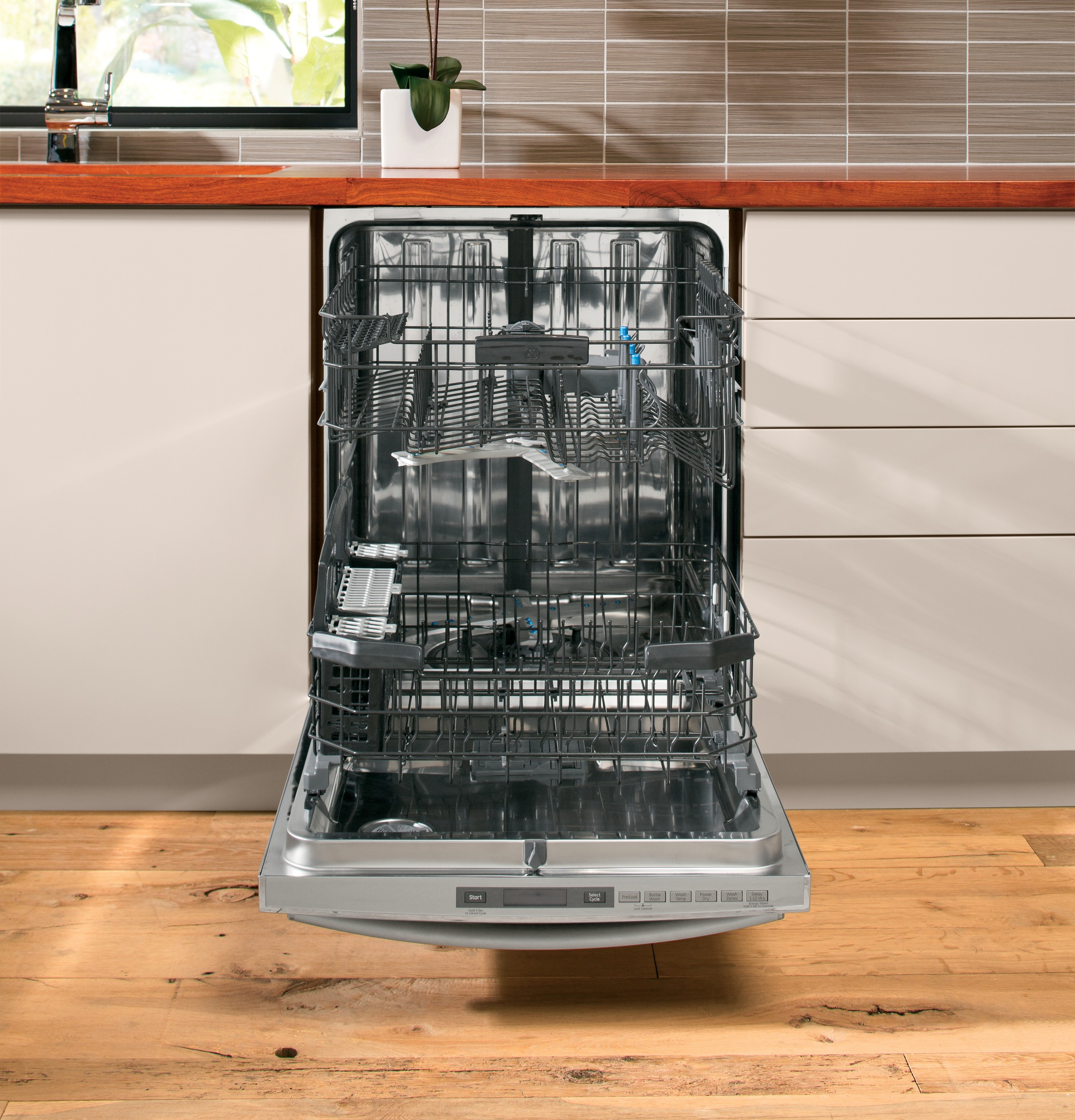 "GE Profile PDT750SSFSS 24"" Built-in Dishwasher w/ Stainless Steel Interior - Stainless Steel"