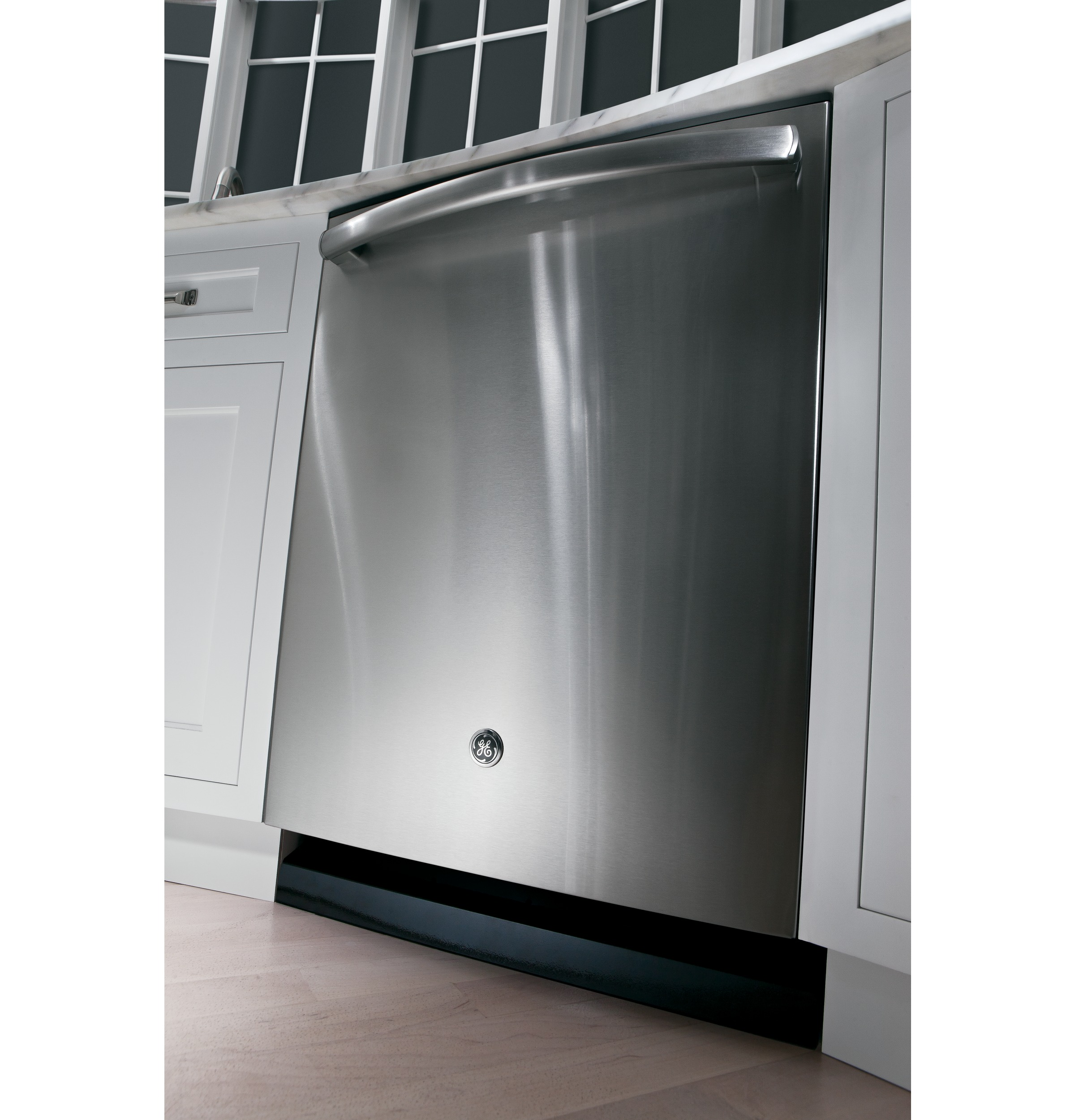 "GE 24"" Hybrid Built-in Dishwasher w/ Stainless Steel Interior - Stainless Steel"