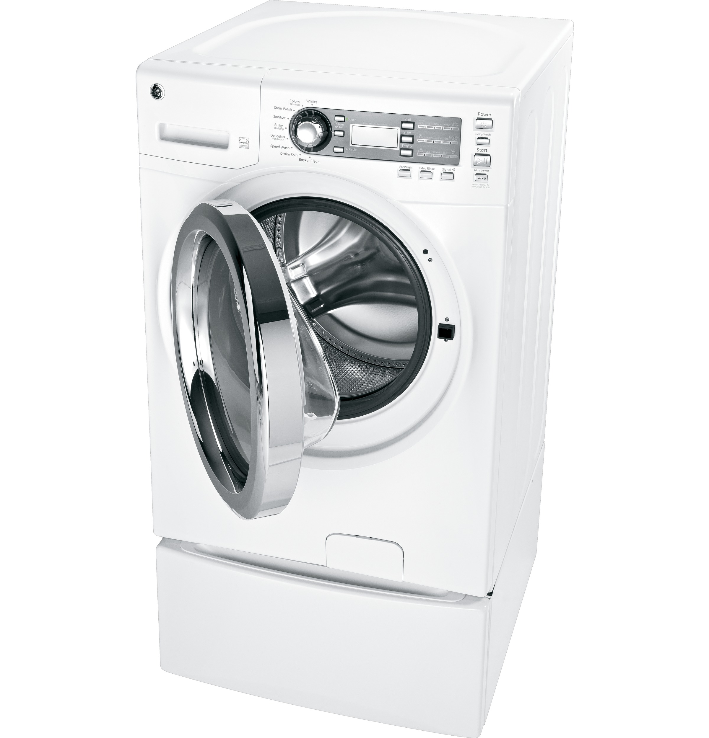 GE Appliances 4.1 cu. ft. Steam Front-Load Washer - White