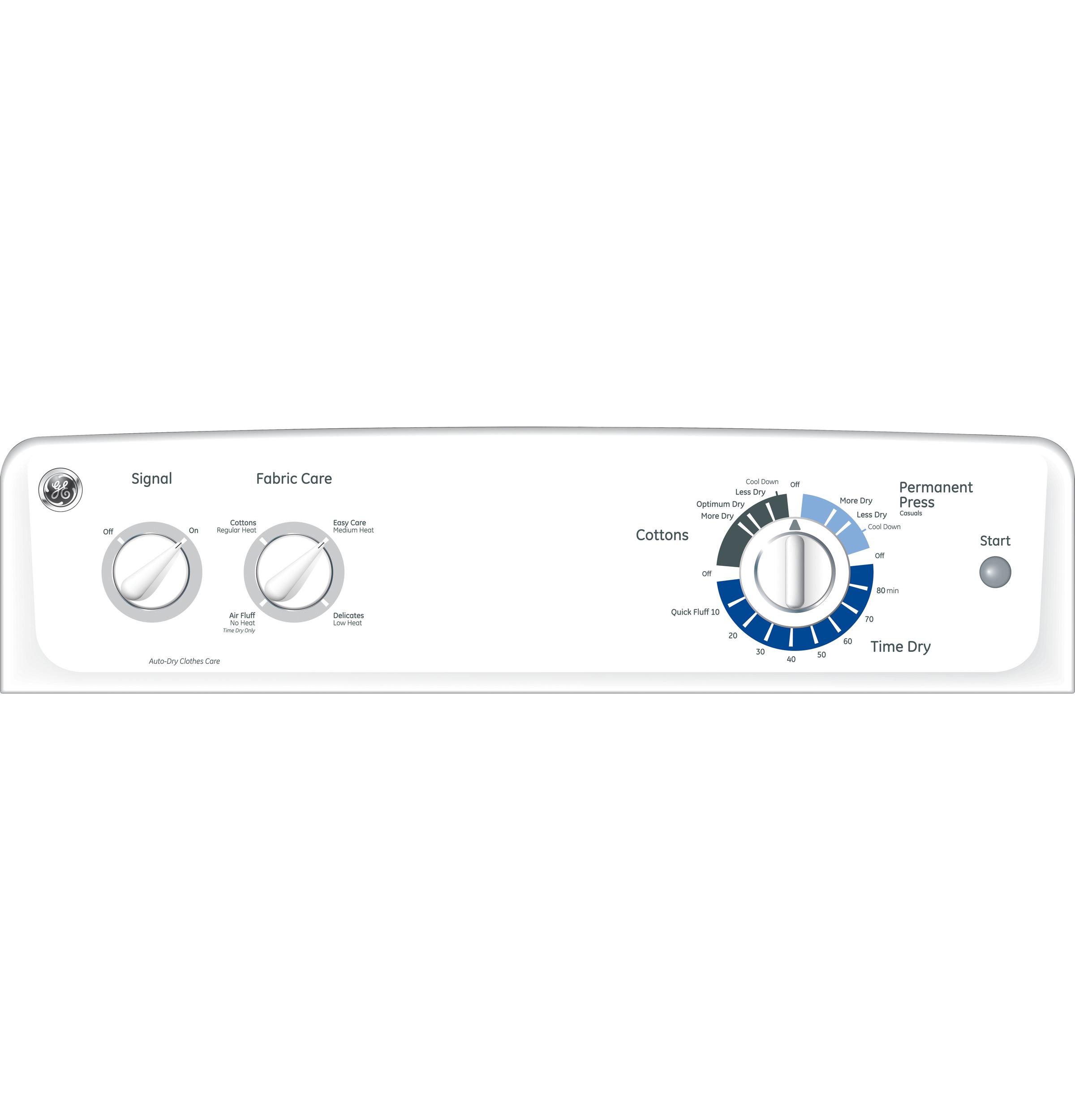 GE Appliances 7.0 cu. ft. Dura Drum Gas Dryer - White