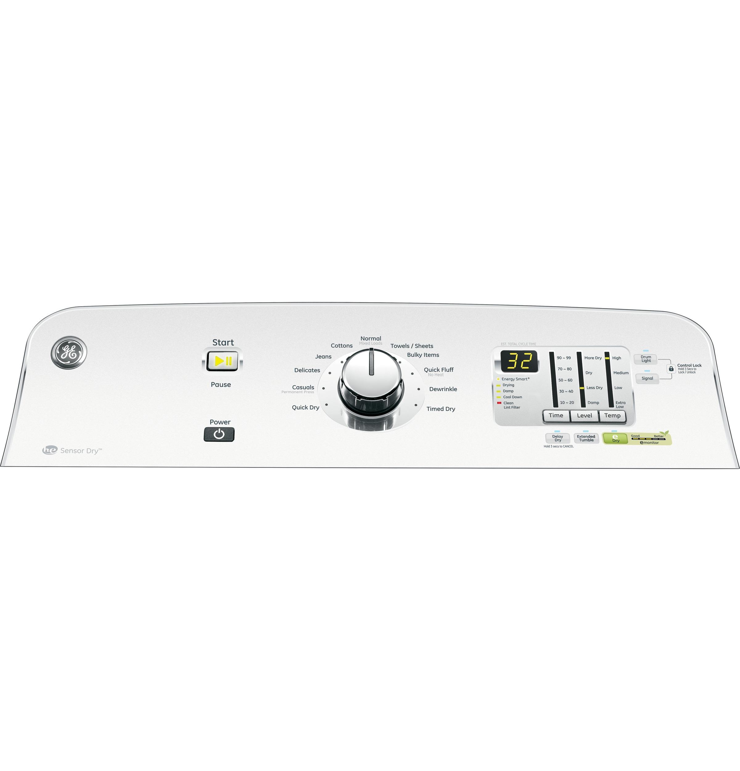 GE 7.8 cu. ft. Gas Dryer - White