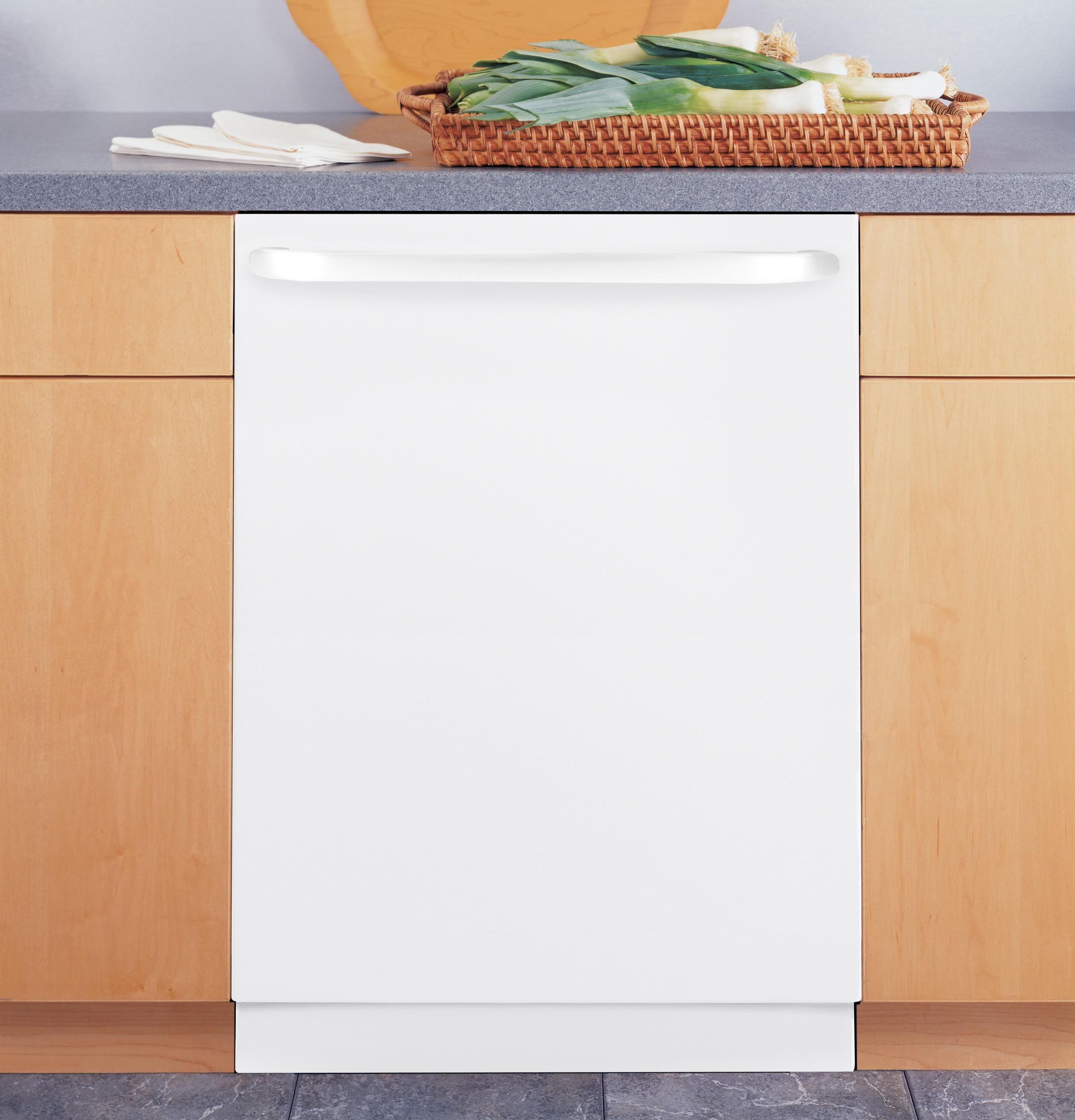 "GE Appliances GLDT690DWW 24"" Built-In White Dishwasher"
