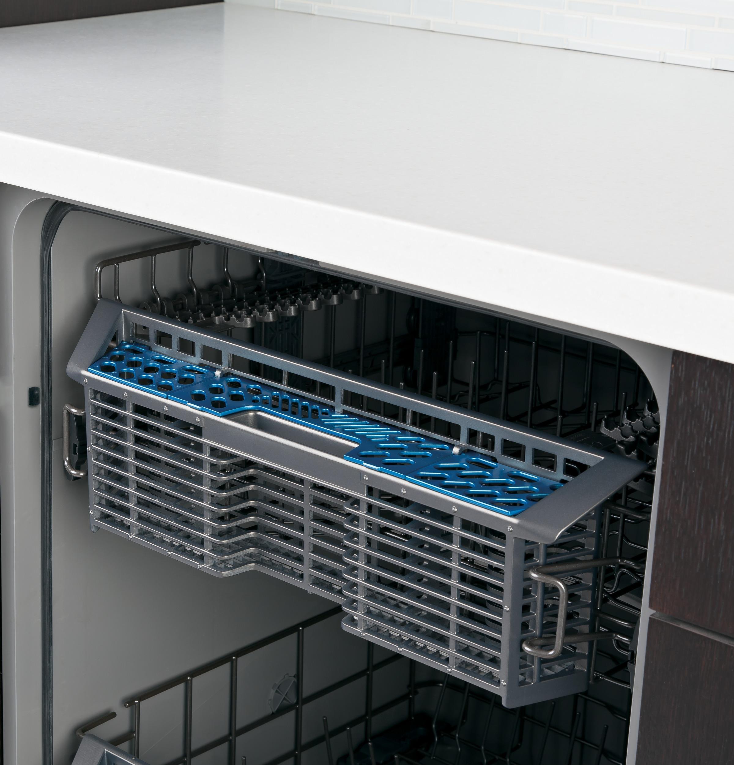 "GE Appliances 24"" Hybrid Dishwasher w/ Front Controls - Slate"
