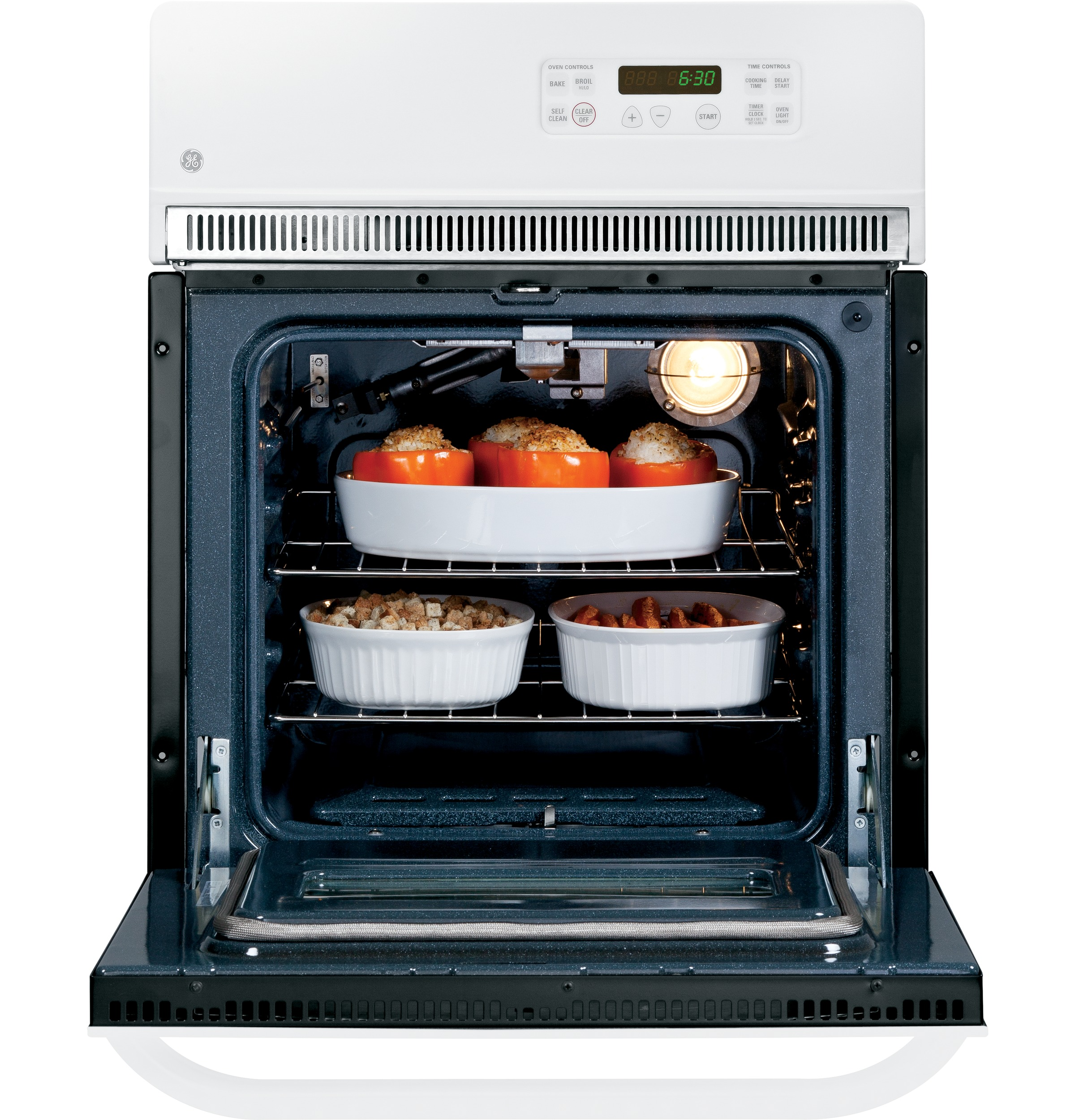 """GE 24"""" Electric Single Self-Clean Wall Oven"""