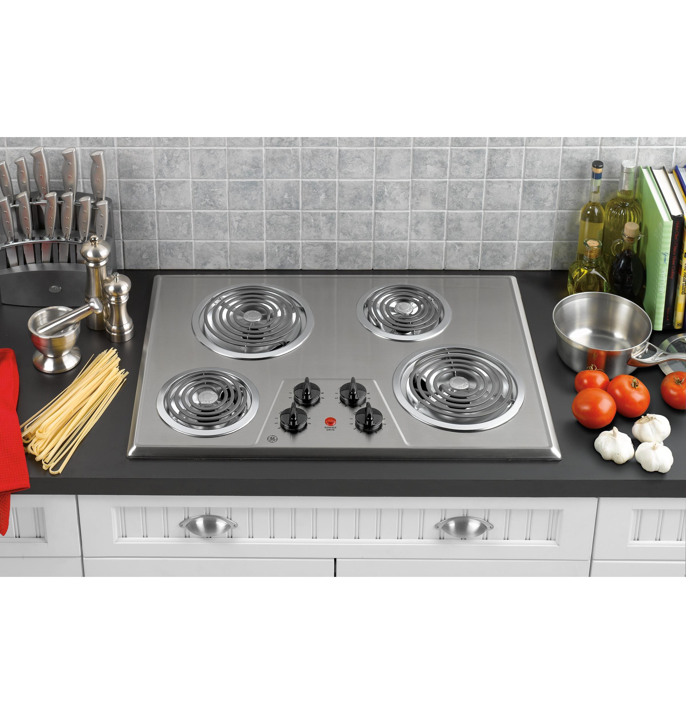 "GE 30"" Built-In Electric Cooktop"