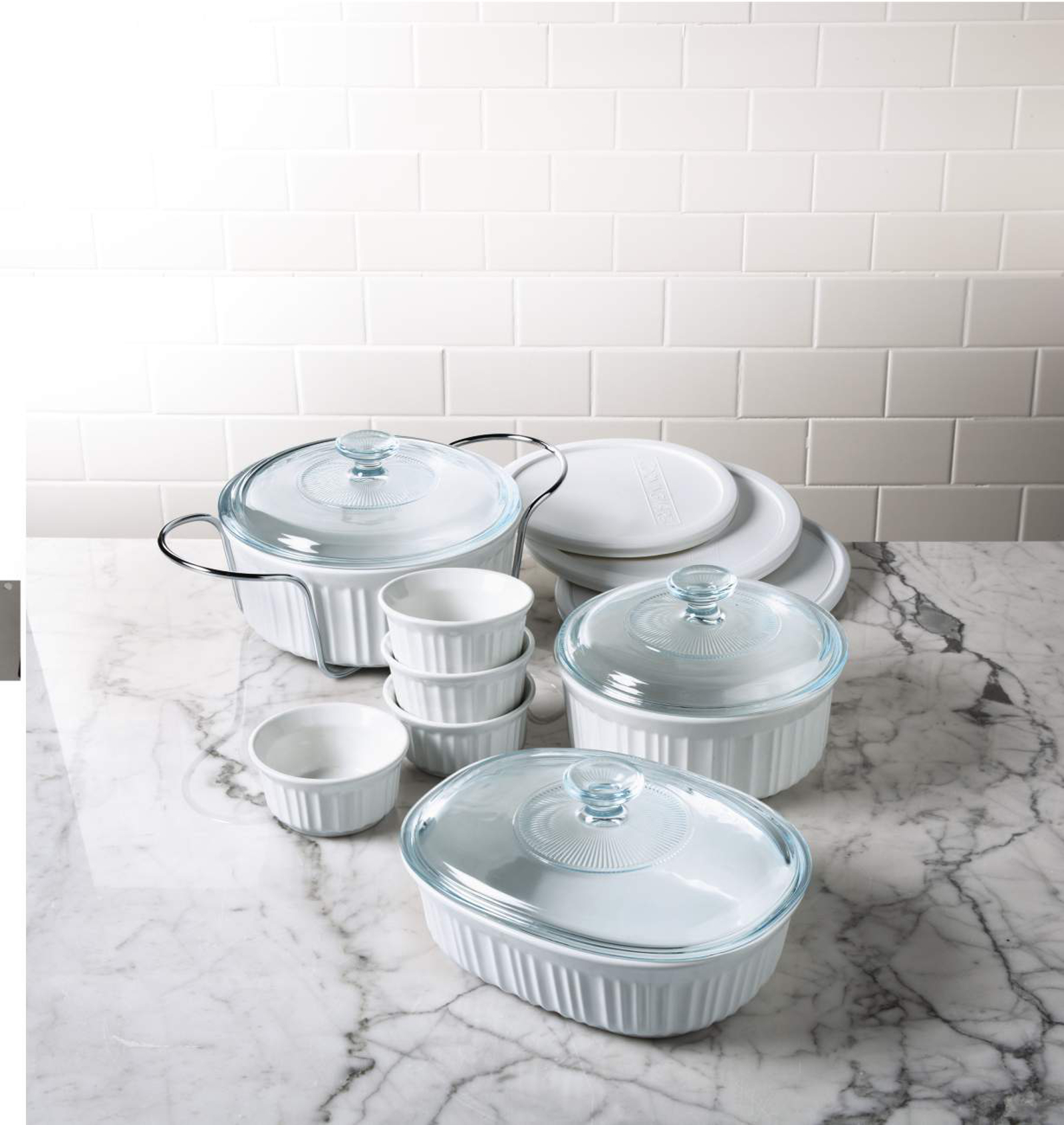 CorningWare 14-Piece White Bakeware Set