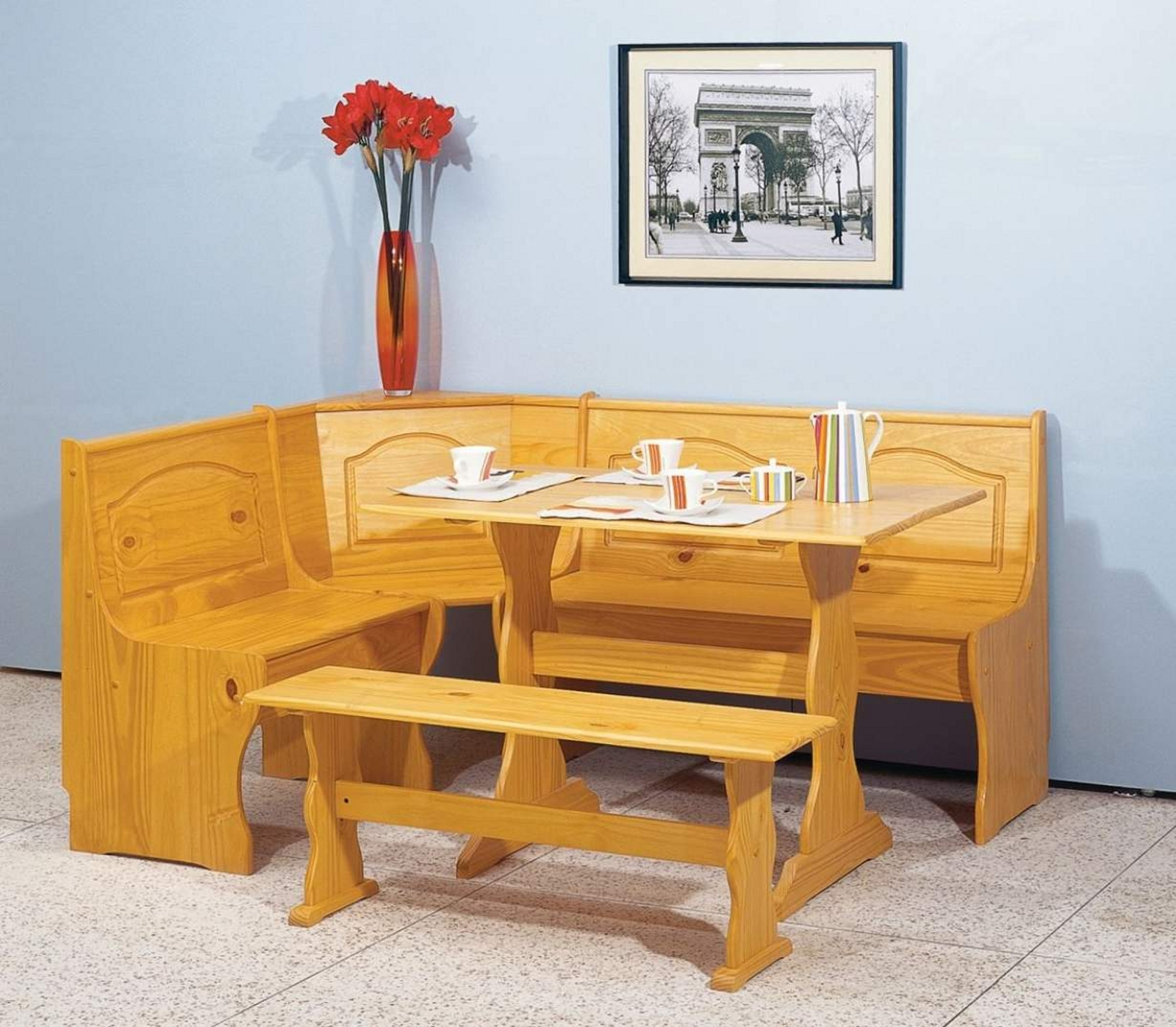 Essential Home Emily Breakfast Nook- Pine