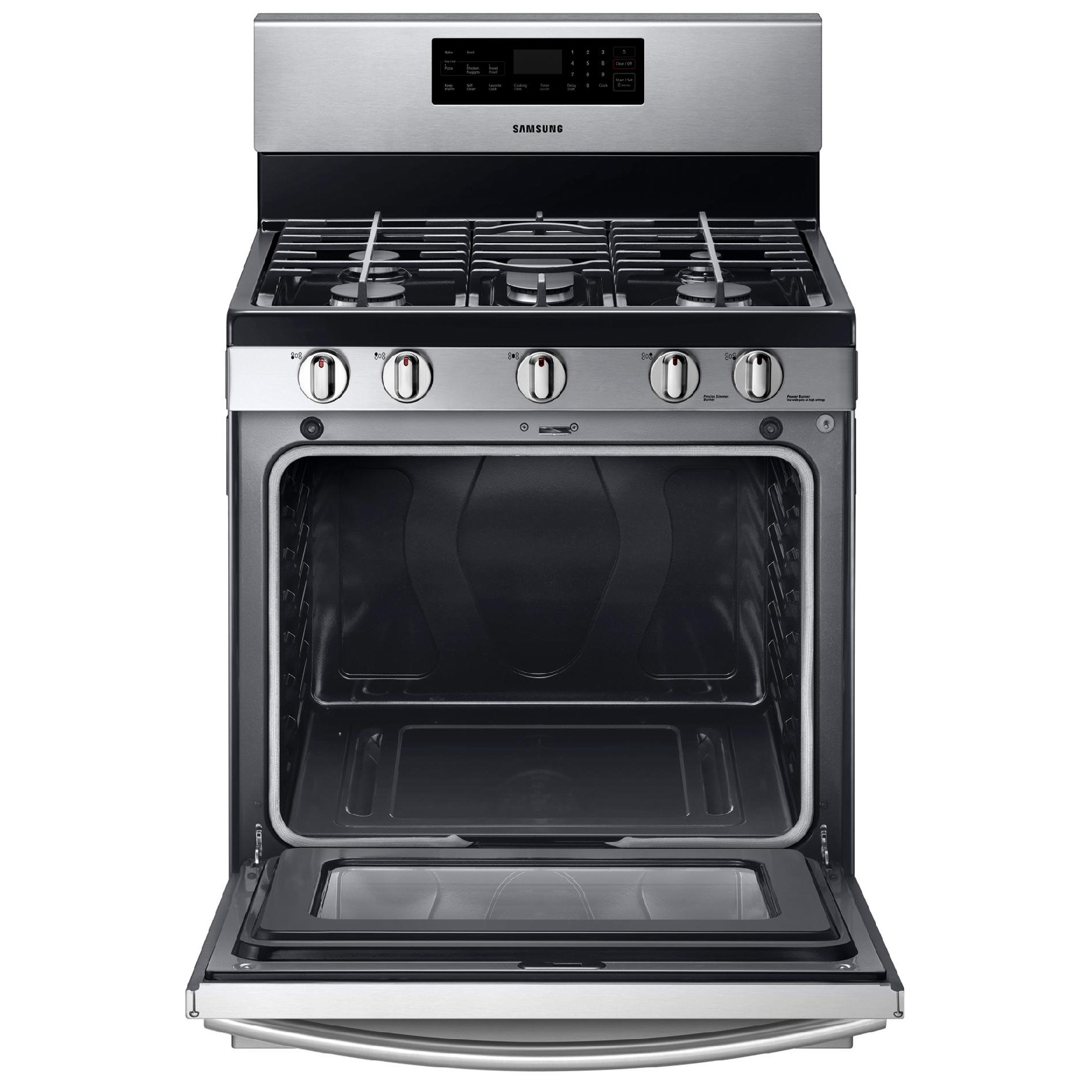 Samsung NX58F5500SS 5.8 cu. ft. Gas Range w/ Griddle - Stainless Steel