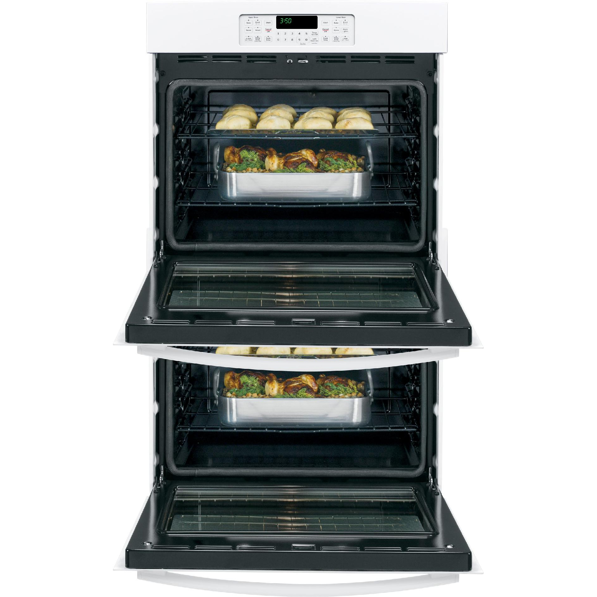 "GE Appliances 30"" Double Electric  Wall Oven - White"