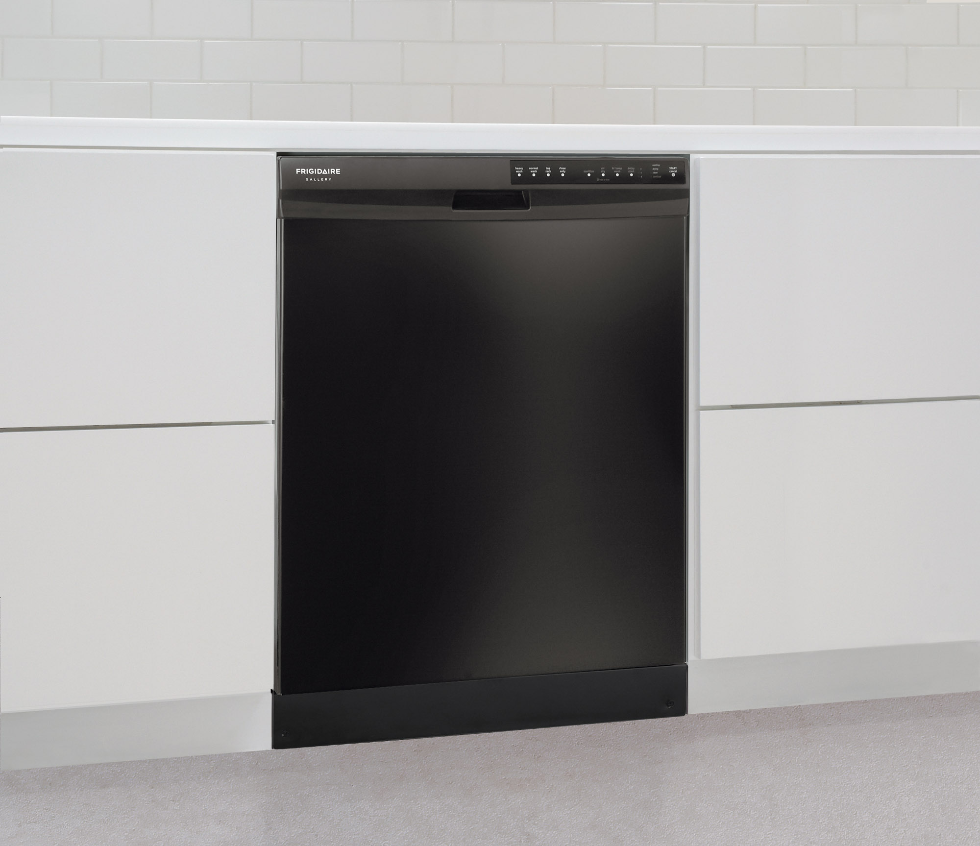 "Frigidaire Gallery FGBD2434PB Gallery 24"" Built-In Dishwasher w/ Nylon Racks - Black"