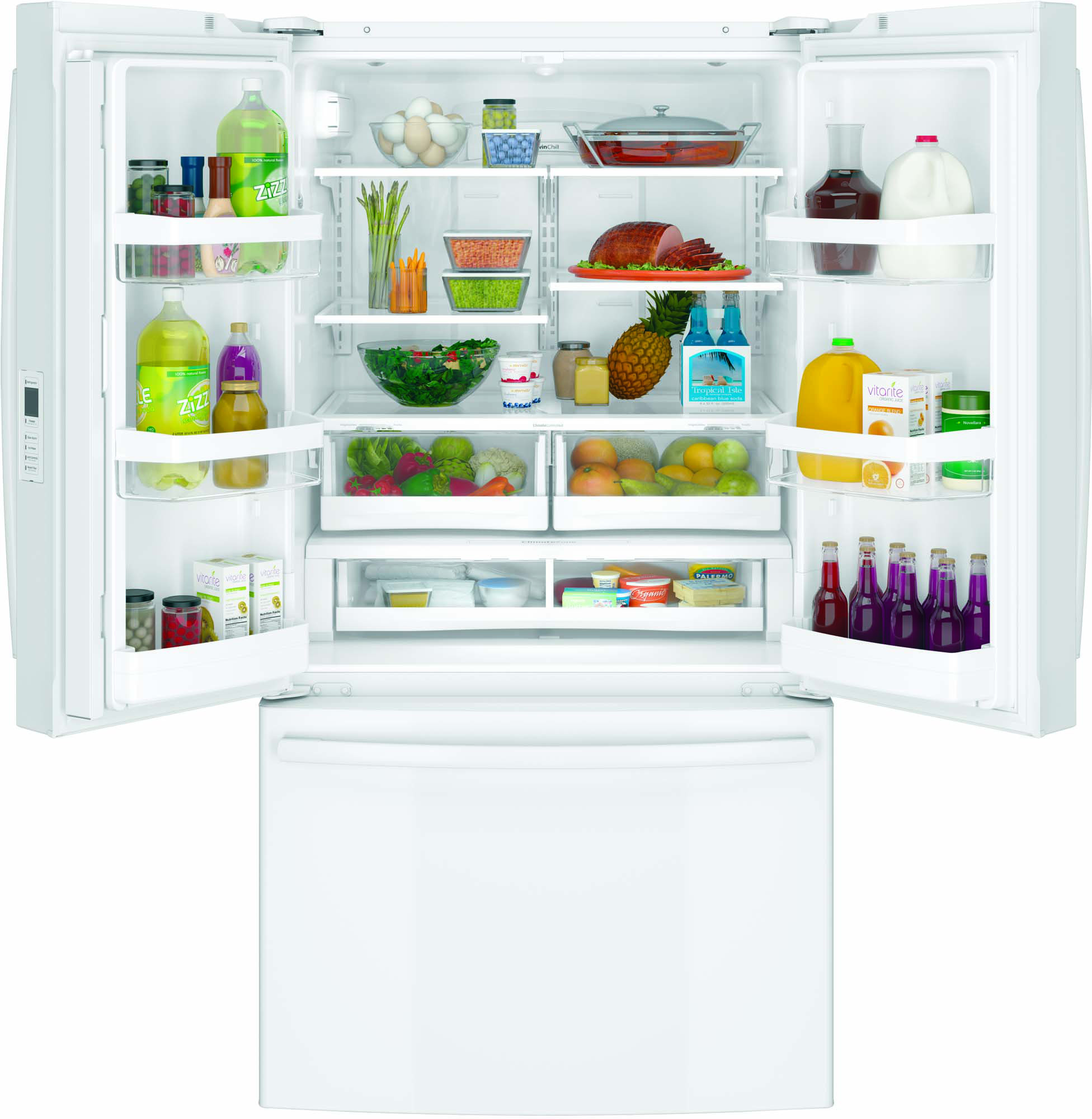GE Appliances GNE29GGHWW 28.5 cu. ft. French-Door Refrigerator - White