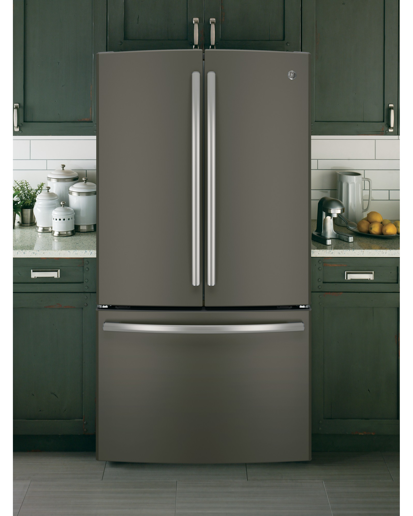 GE Appliances GNE29GMHES 28.5 cu. ft. French-Door Refrigerator - Slate