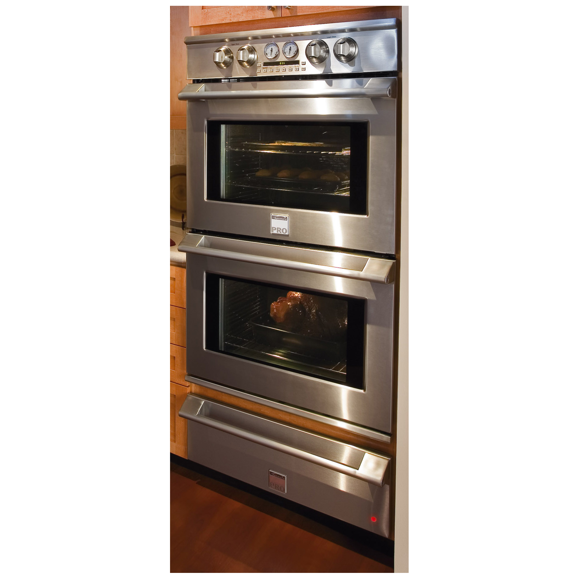 "Kenmore Pro 30"" Electric Double Wall Oven - Stainless Steel"