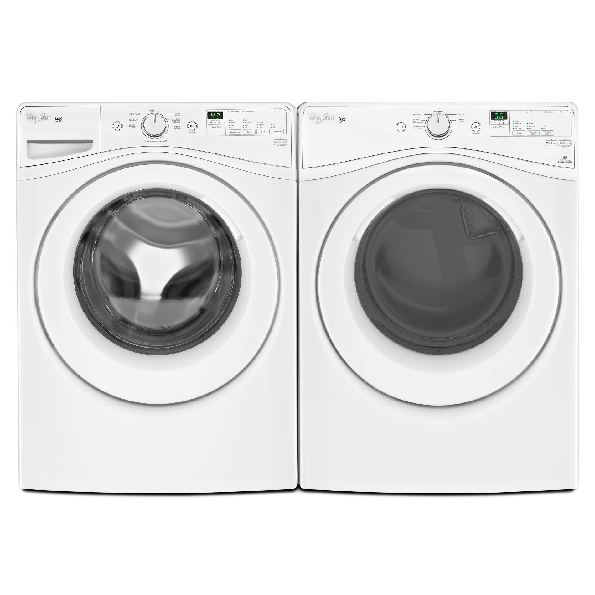Whirlpool WFW72HEDW 4.2 cu. ft. Duet Front-Load Washer w/ Eco-Sanitize Cycle - White