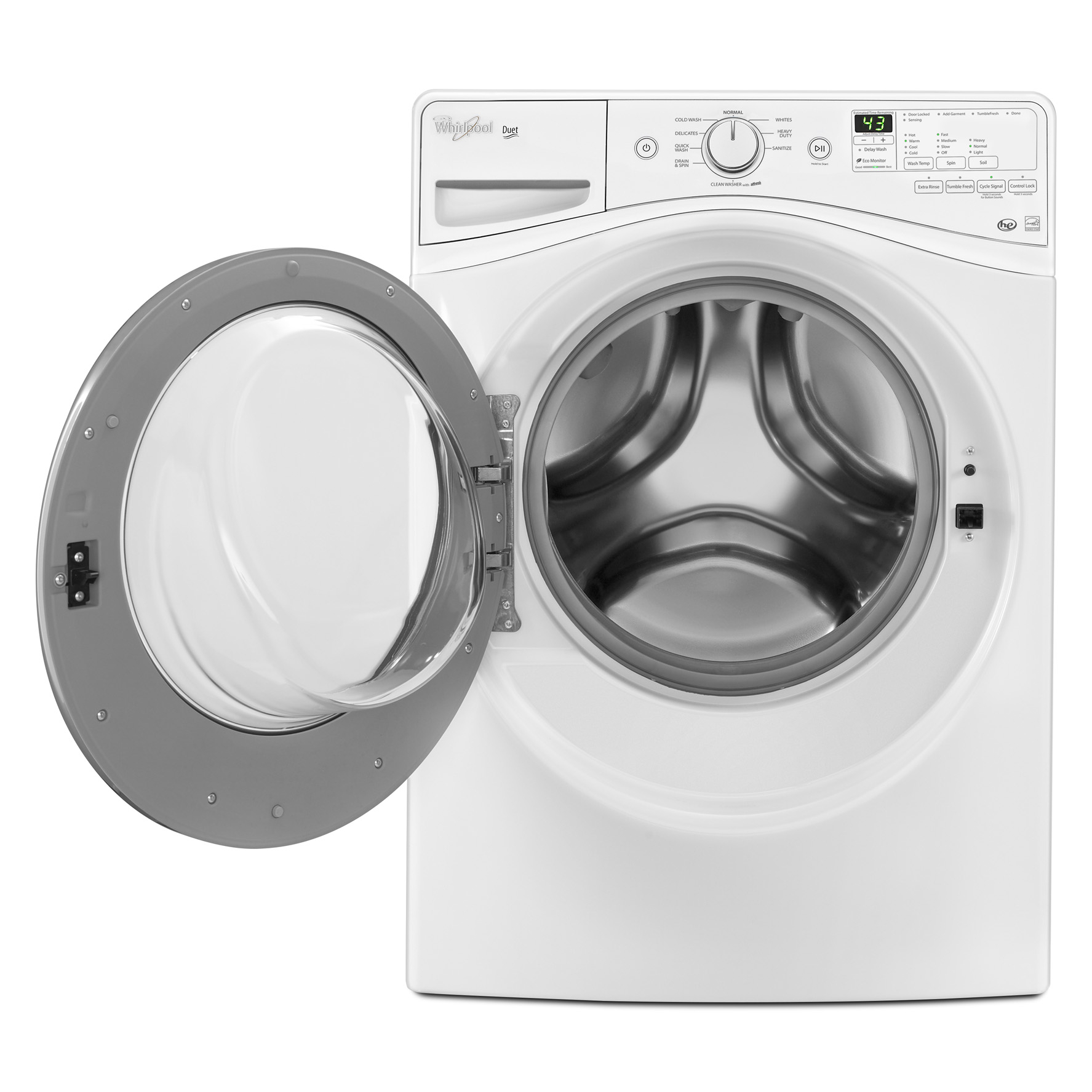 Whirlpool WFW81HEDW 4.2 cu. ft. Duet® Front-Load Washer w/ TumbleFresh™ Option - White