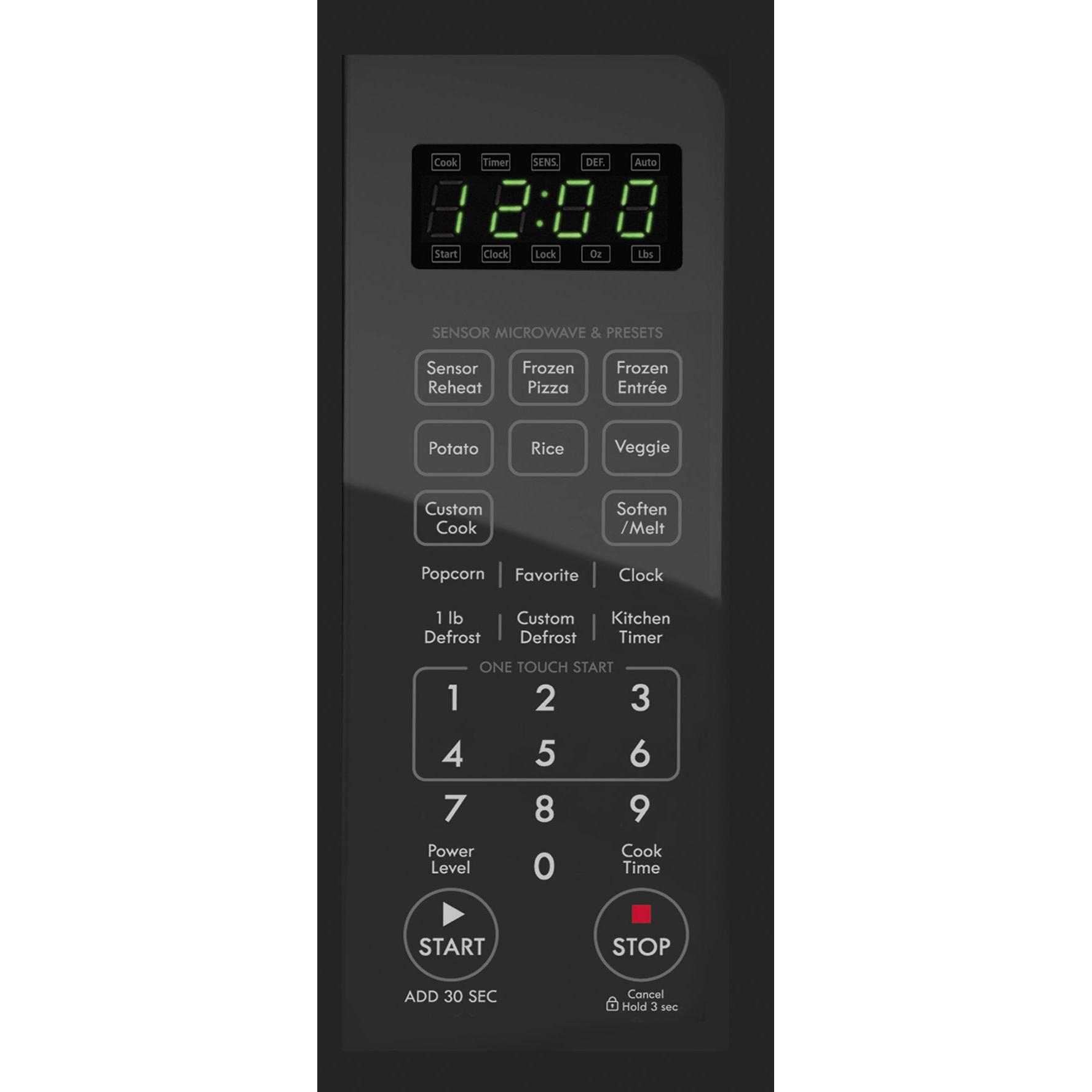 Kenmore 72123 1.2  cu. ft. Countertop Microwave w/ EZ Clean Interior - Stainless Steel