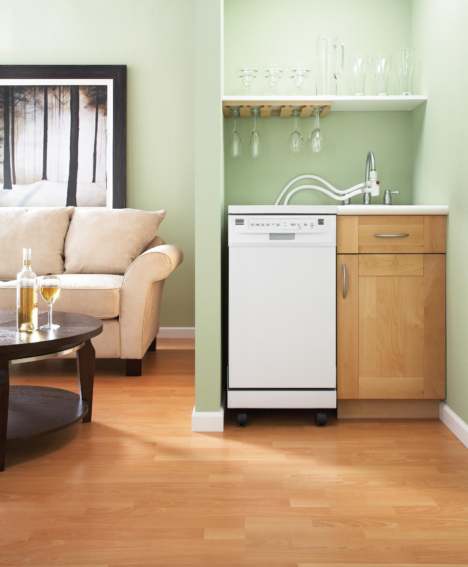 "Kenmore 14652 18"" Portable Dishwasher - White"