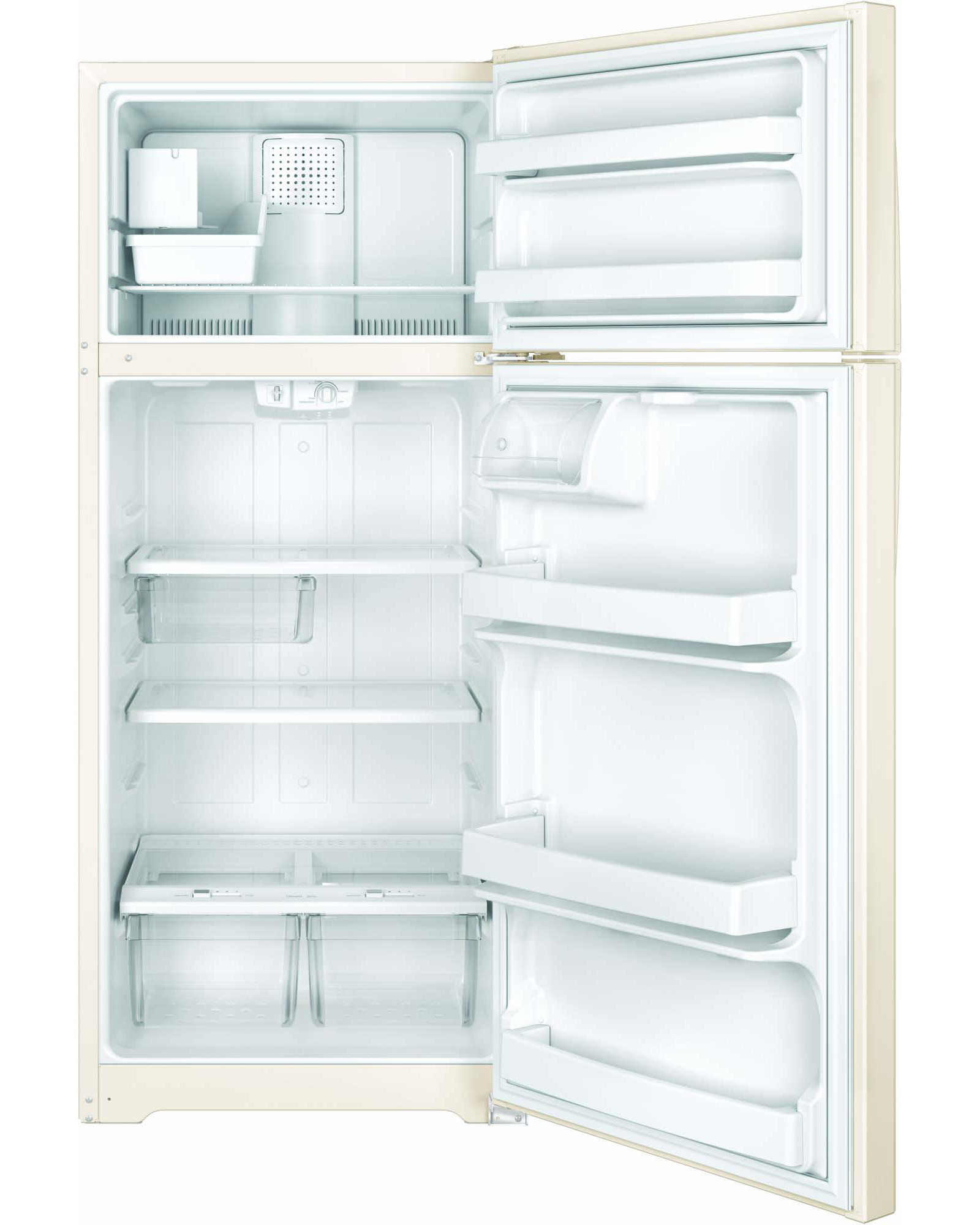 GE Appliances GIE18GTHCC 17.5 cu. ft. Top-Freezer Refrigerator - Beige & Bisque