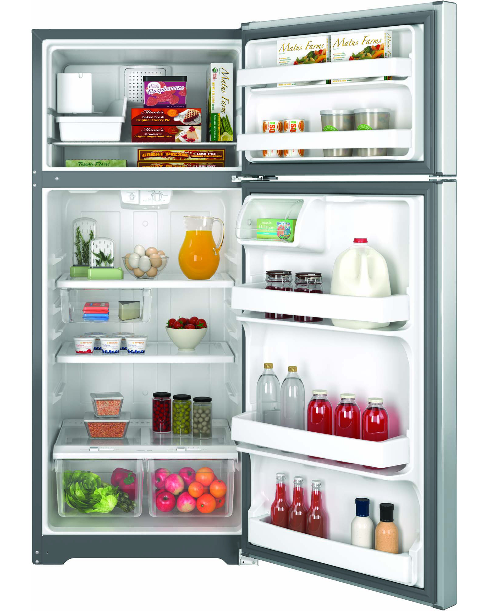 GE Appliances GIE18GSHSS 17.5 cu. ft. Top-Freezer Refrigerator - Stainless Steel