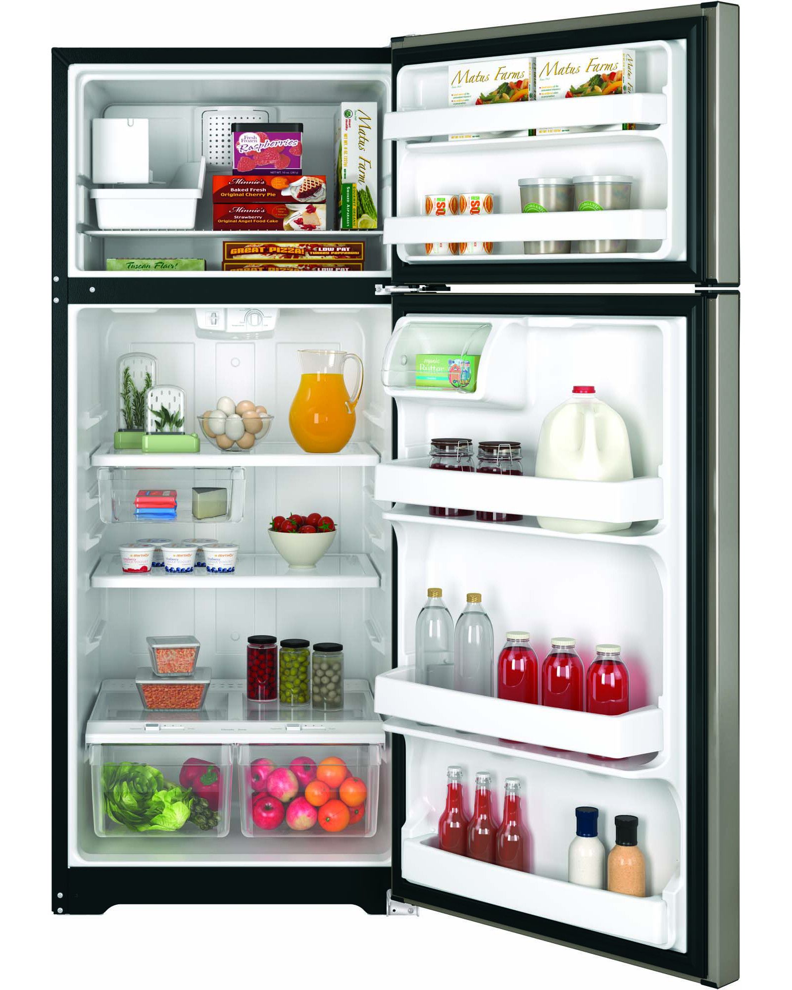 GE Appliances GIE18GCHSA 17.5 cu. ft. Top-Freezer Refrigerator - Metallic