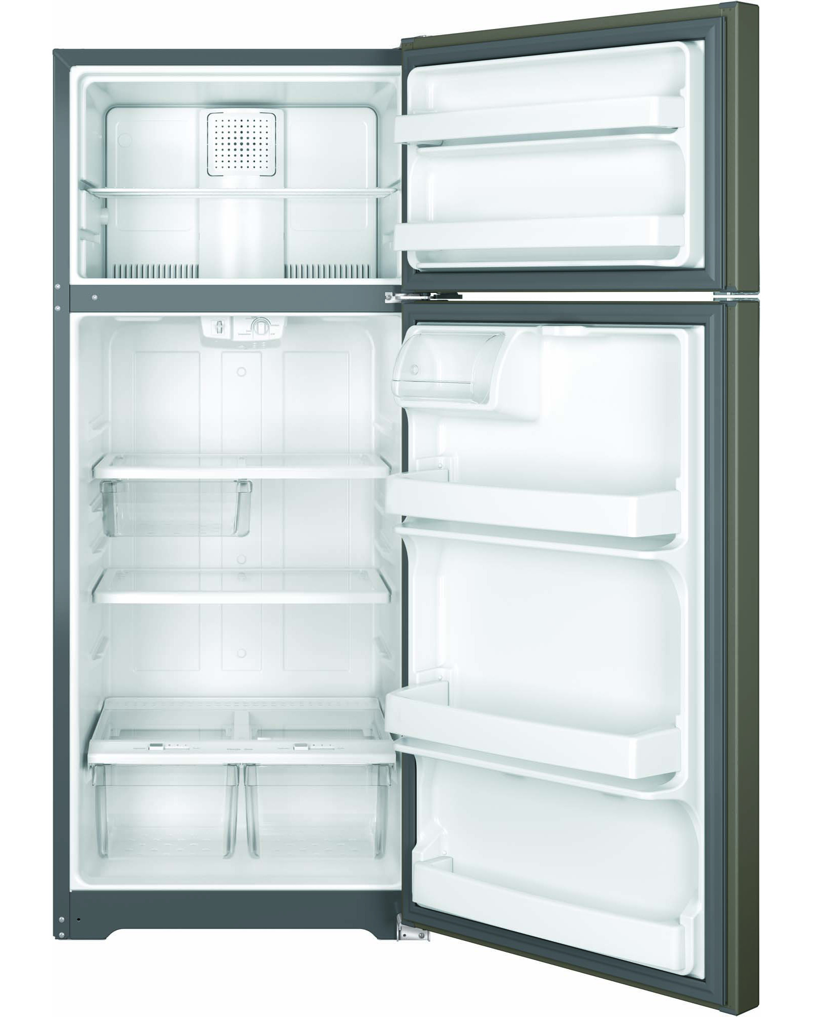 GE Appliances GTE18GMHES 17.5 cu. ft. Top-Freezer Refrigerator - Slate