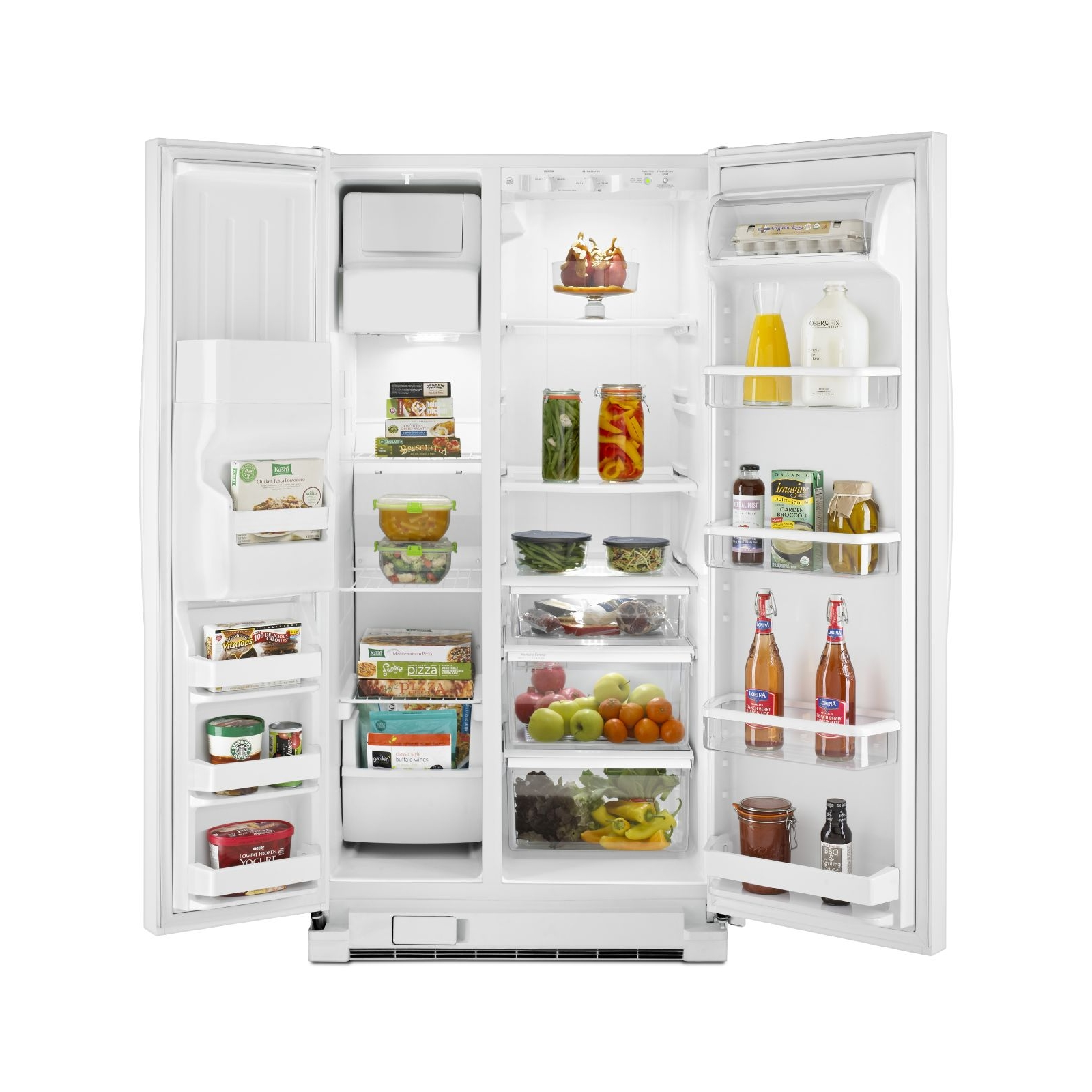Whirlpool 25.0 cu. ft. Side-by-Side Refrigerator w/ Accu-Chill™ - White